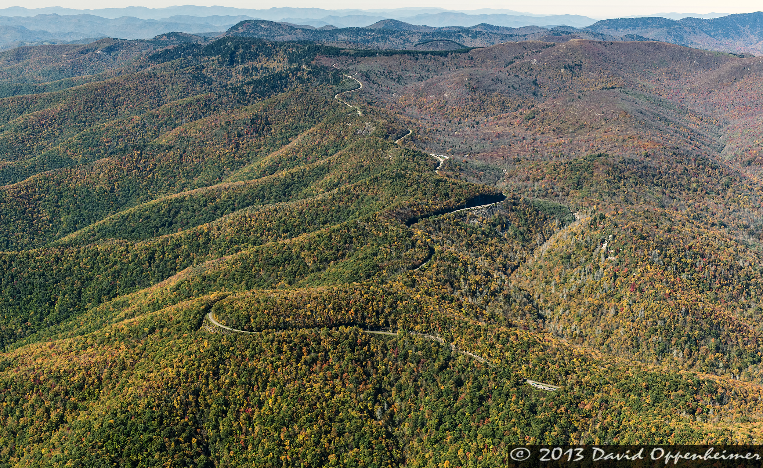 Blue Ridge Mountains Aerial Photography October 20, 2013