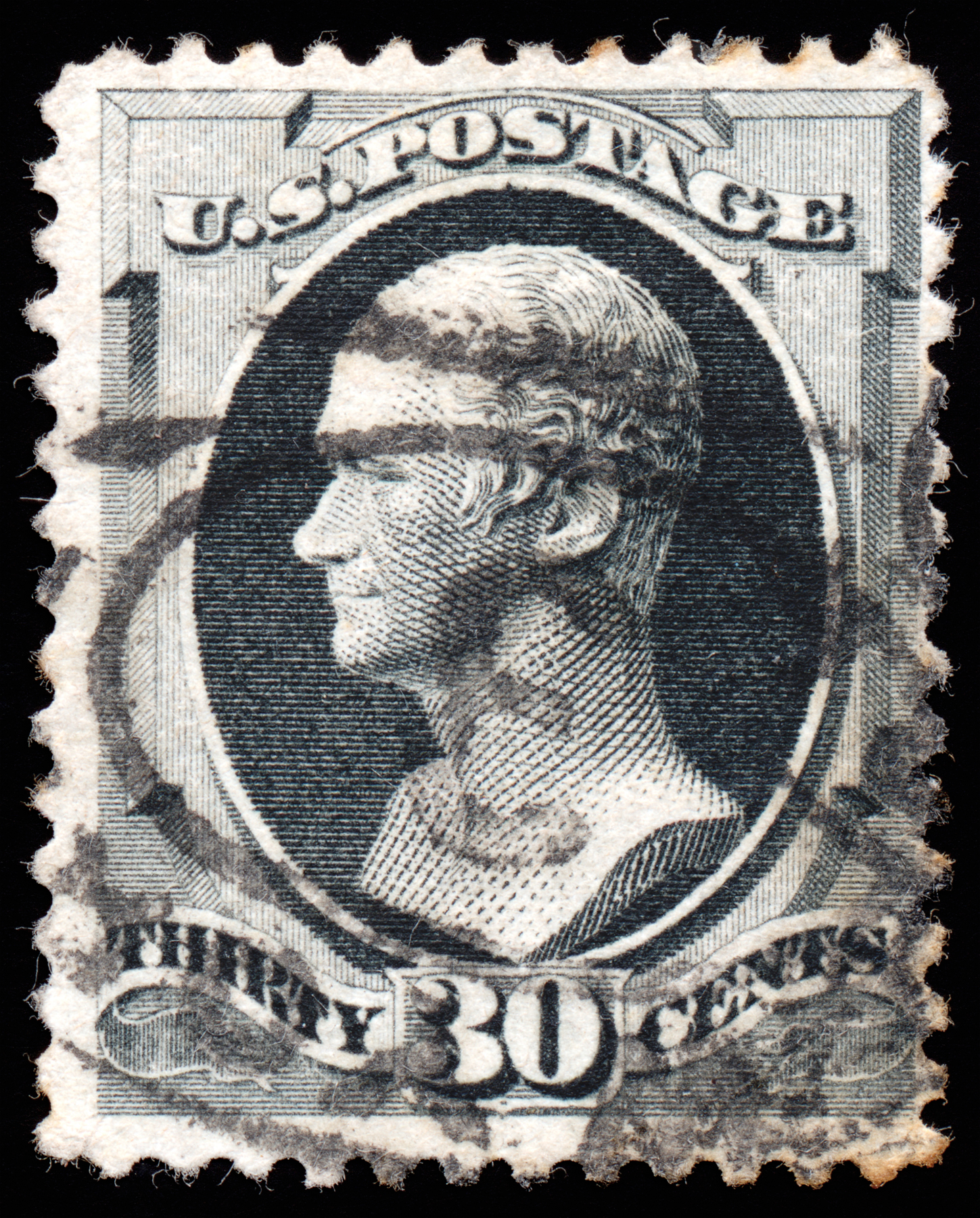 Gray Alexander Hamilton Stamp, 30, Retro, Resource, Resolution, HQ Photo