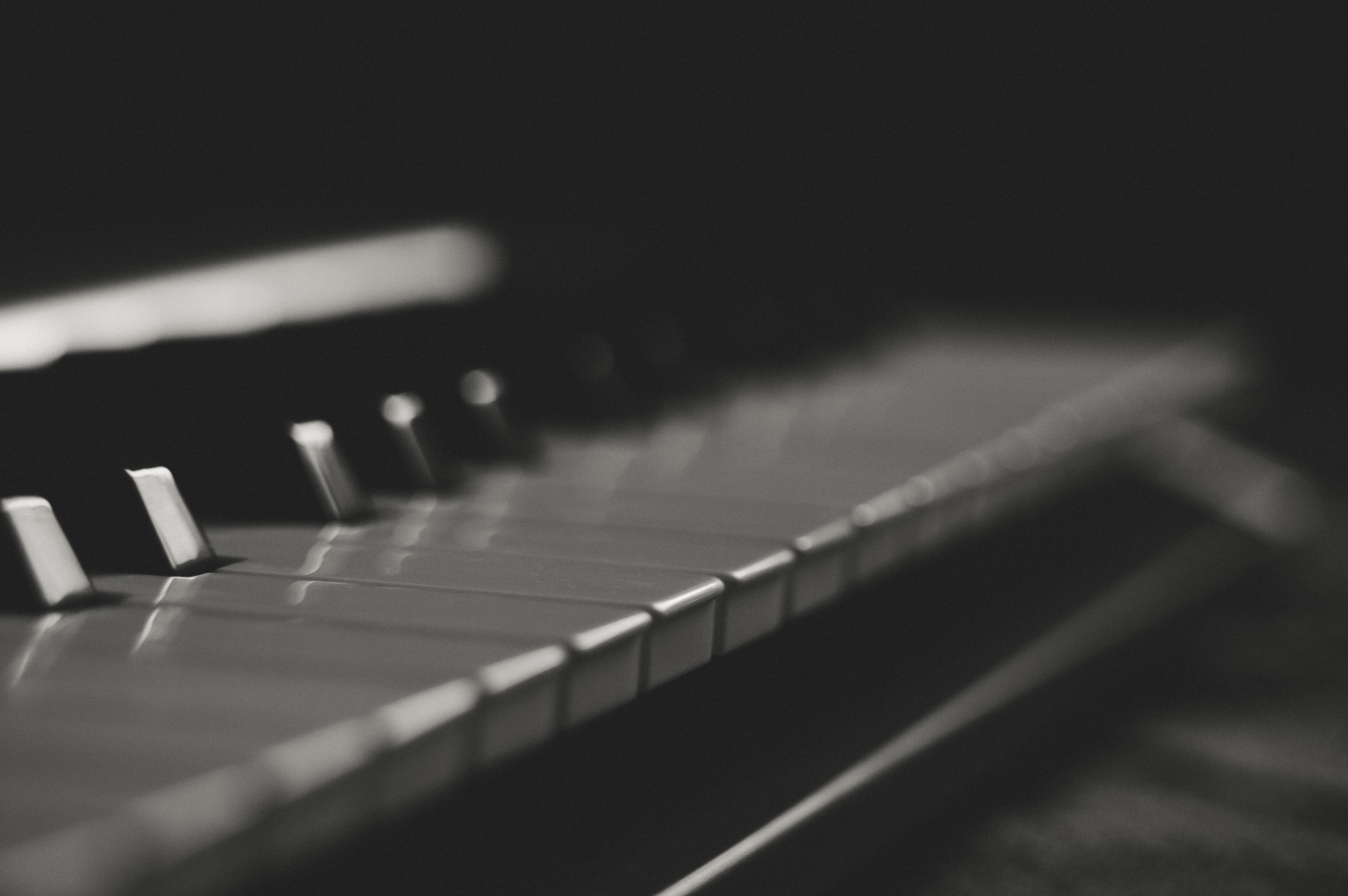 Free photo: Gray and Black Piano Keys - Keys, Ivory, Musical