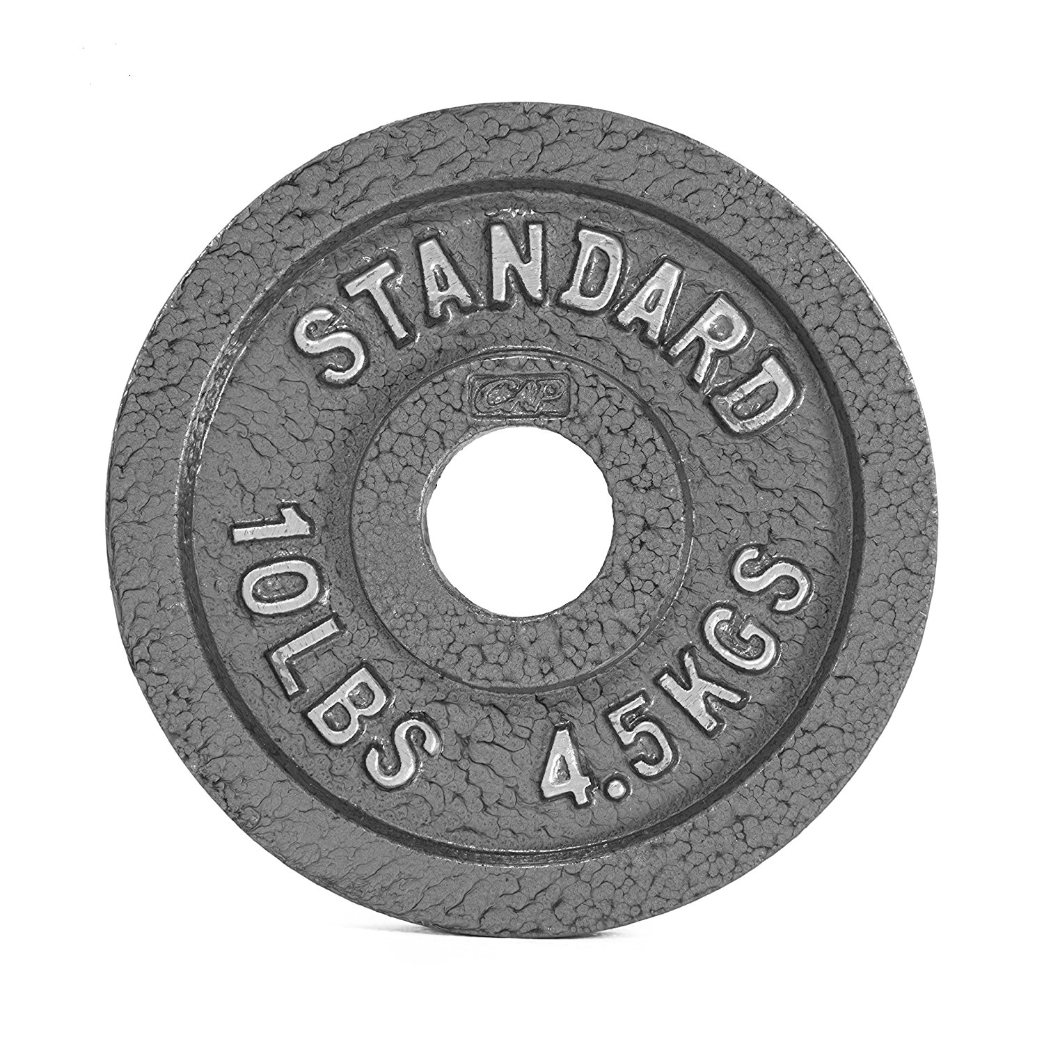 Amazon.com : CAP Barbell Olympic 2-Inch Weight Plate, GRAY 10 LBS ...