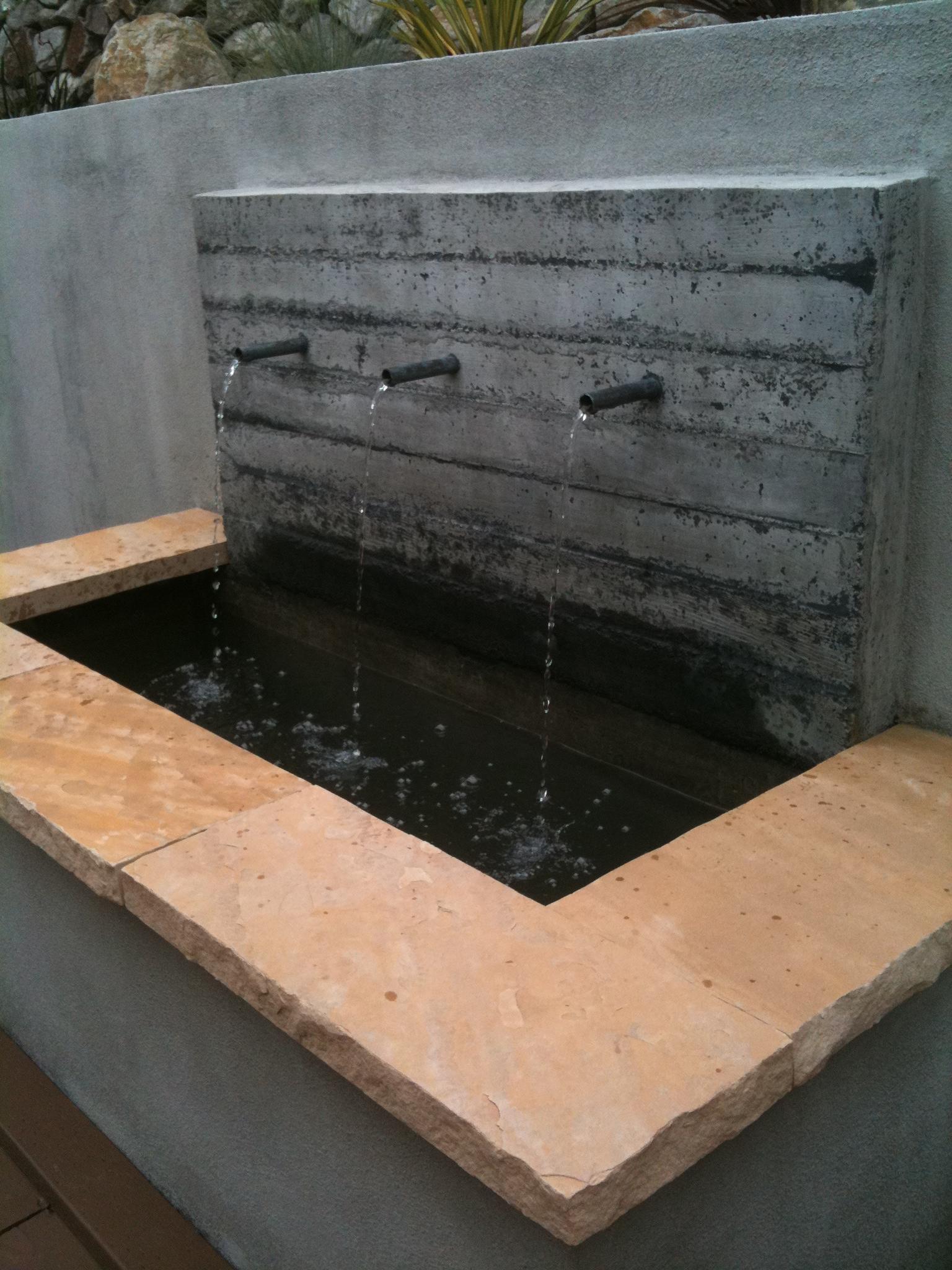 Sculpt Gardens | Design + Build | Concrete Fountain