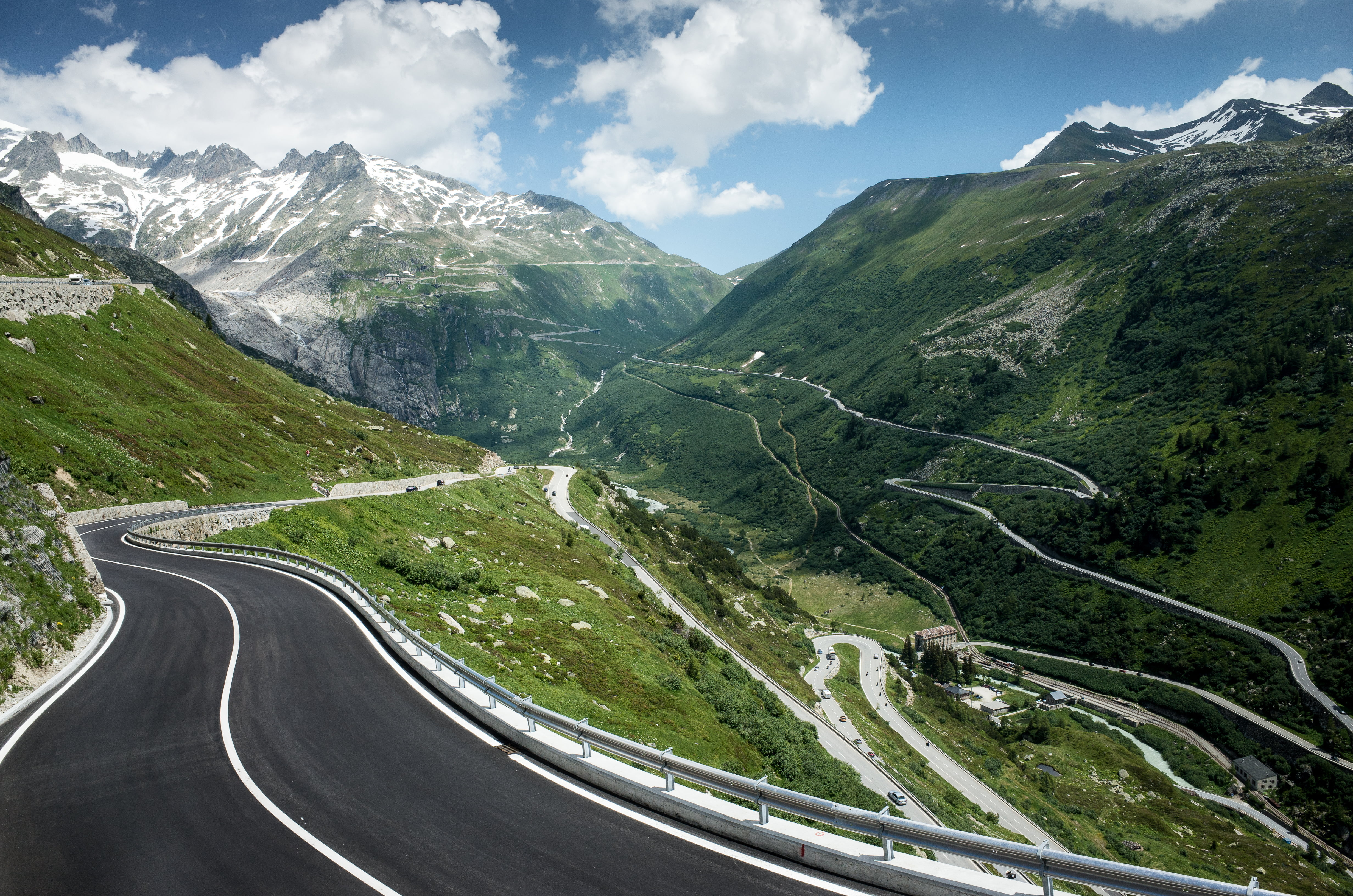 Gray concrete road and mountain HD wallpaper | Wallpaper Flare