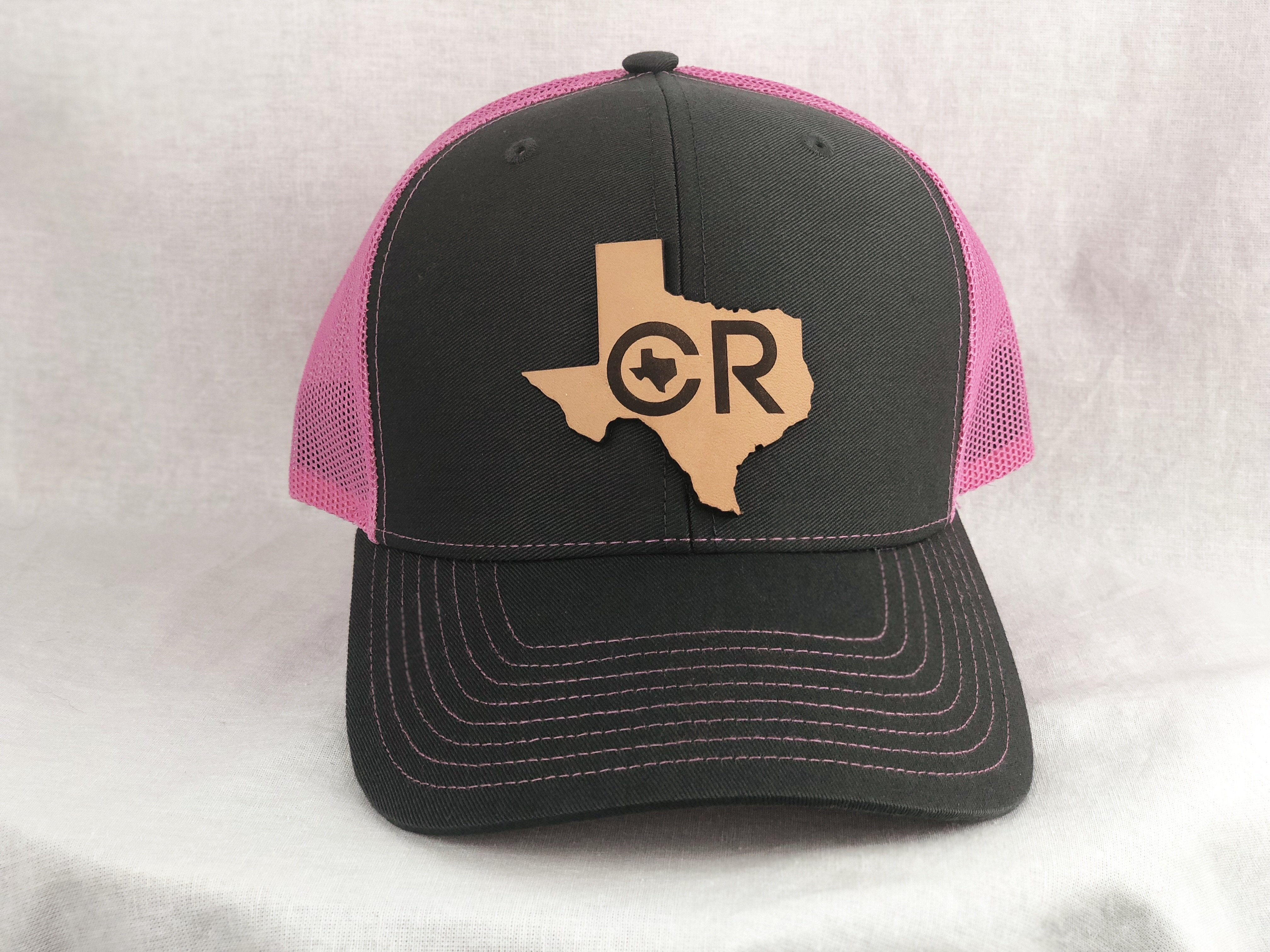 Buy CR Texas Leather Tag Pink and Gray Hat at CR RanchWear for only ...