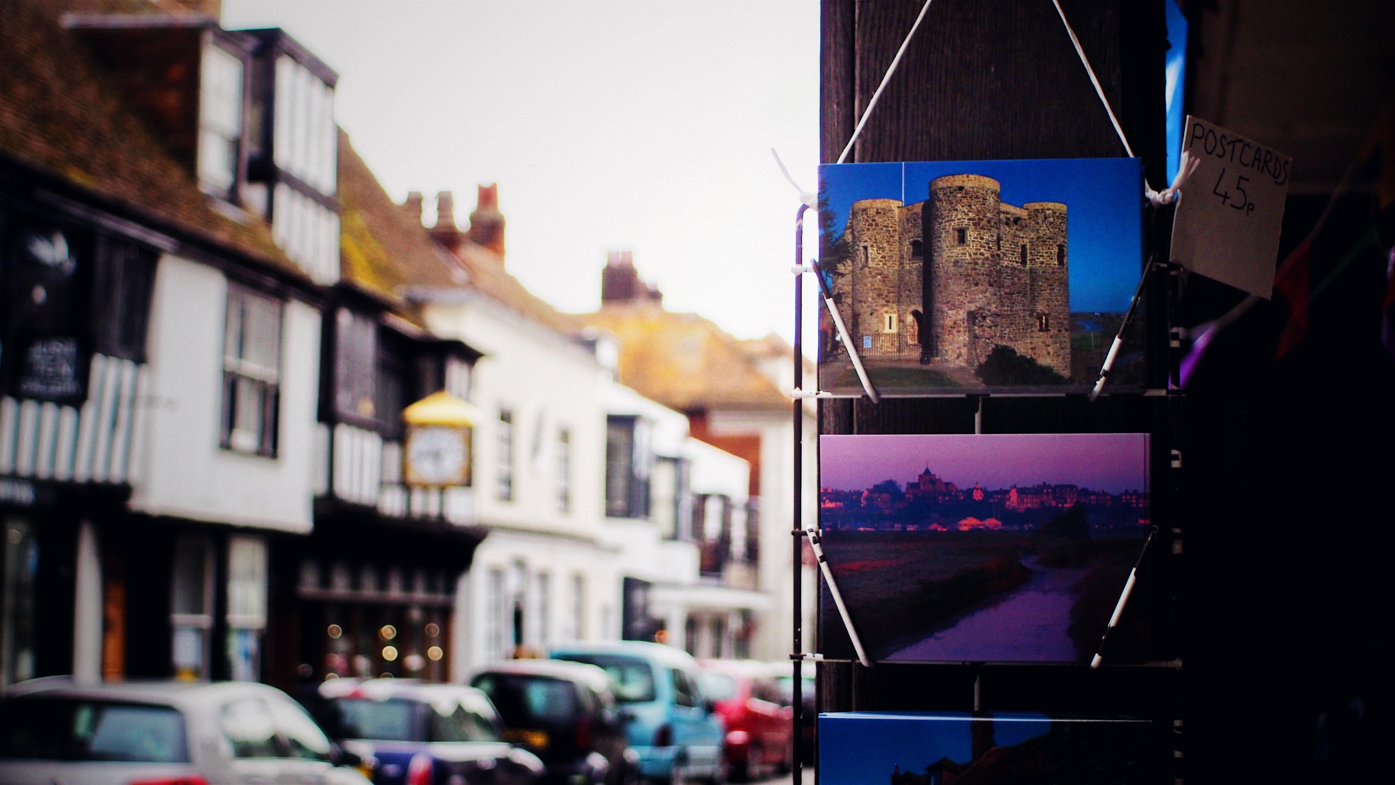 Gray landmark post card photo