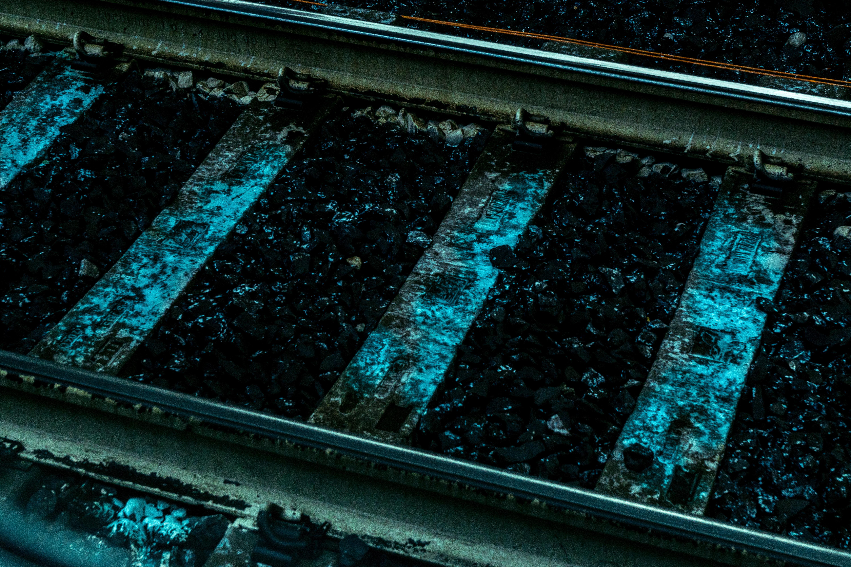 Gray Metal Railway, Close -up, Railroad tracks, Train tracks, Tracks, HQ Photo