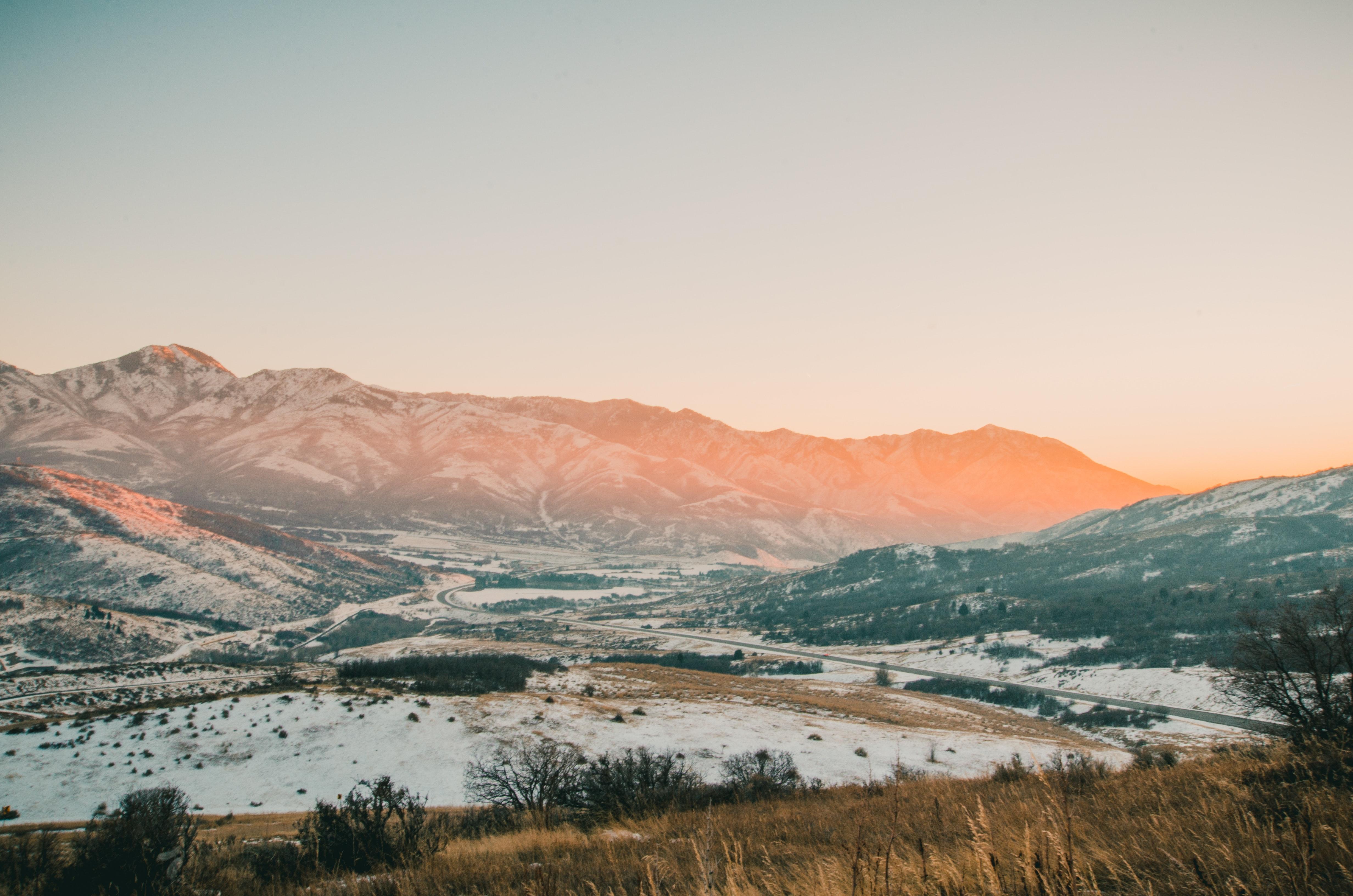 Free photo Gray Mountains With Snow sky scenic snow CC0