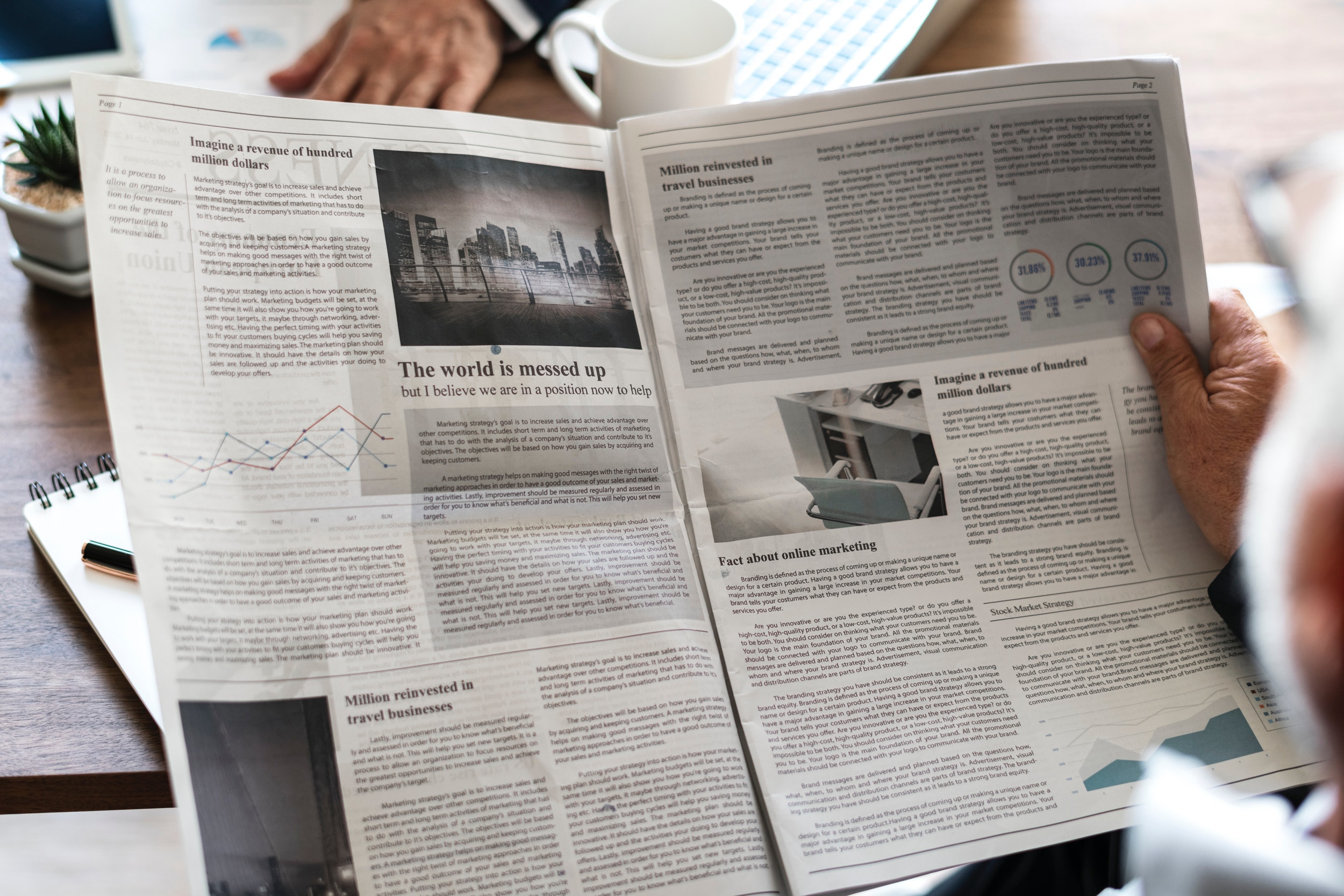 Gray Newspaper, Reading, Print, Papers, Relax, HQ Photo