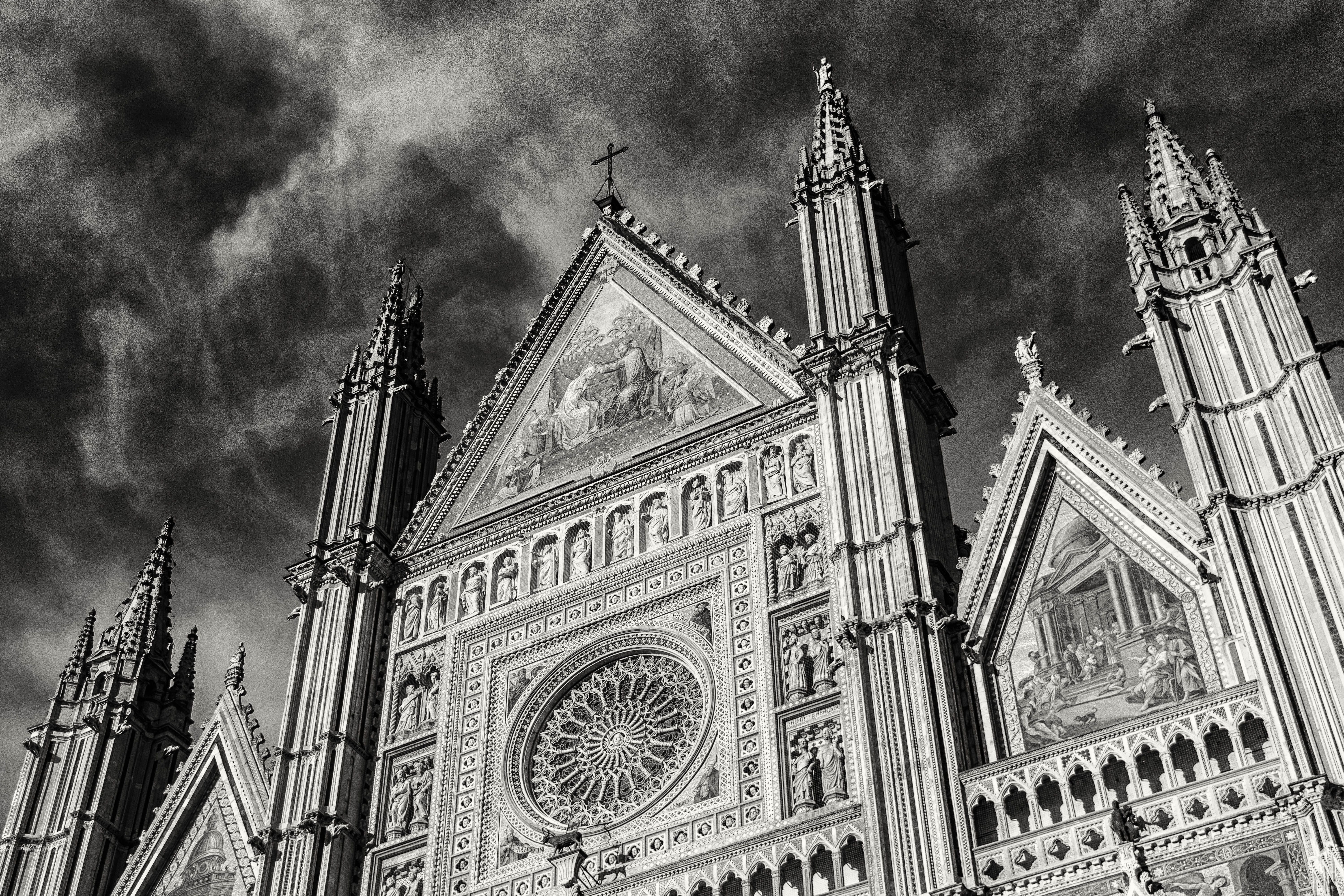 Gray Scale Church Photo, Architecture, Black-and-white, Building, Cathedral, HQ Photo