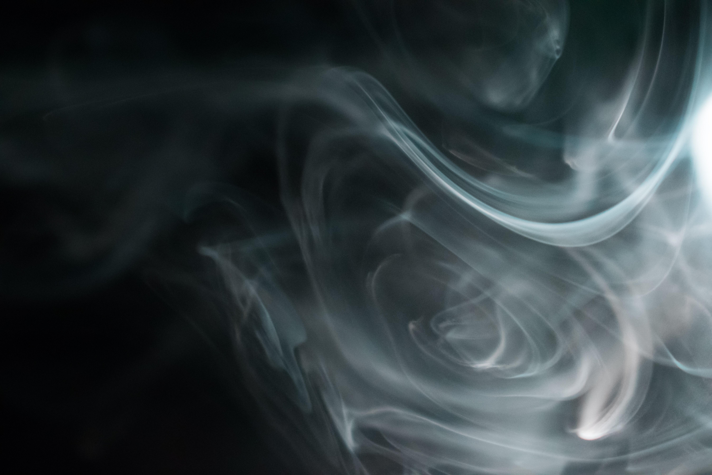 Gray Smoke Graphic Wallpaper, Black and white, Black background, Blur, Close -up, HQ Photo