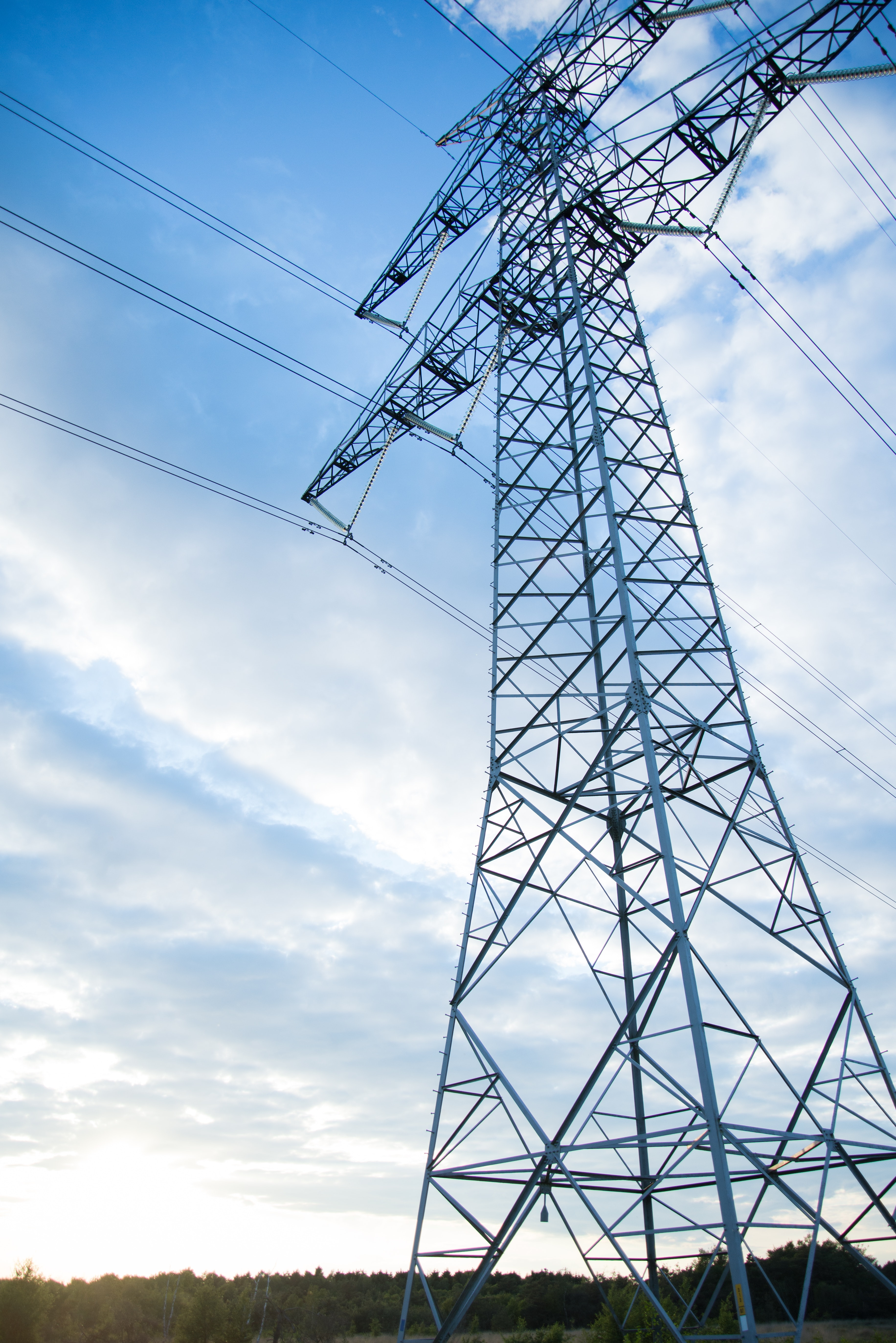 Gray Transmission Line Under Blue Sky at Daytime, Cable, Power supply, Voltage, Volt, HQ Photo