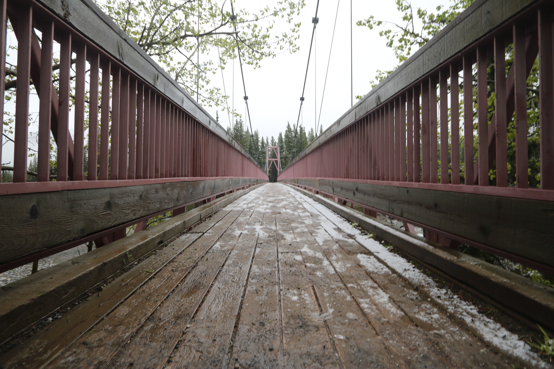 Gray wooden bridge photo, bragg creek HD wallpaper | Wallpaper Flare