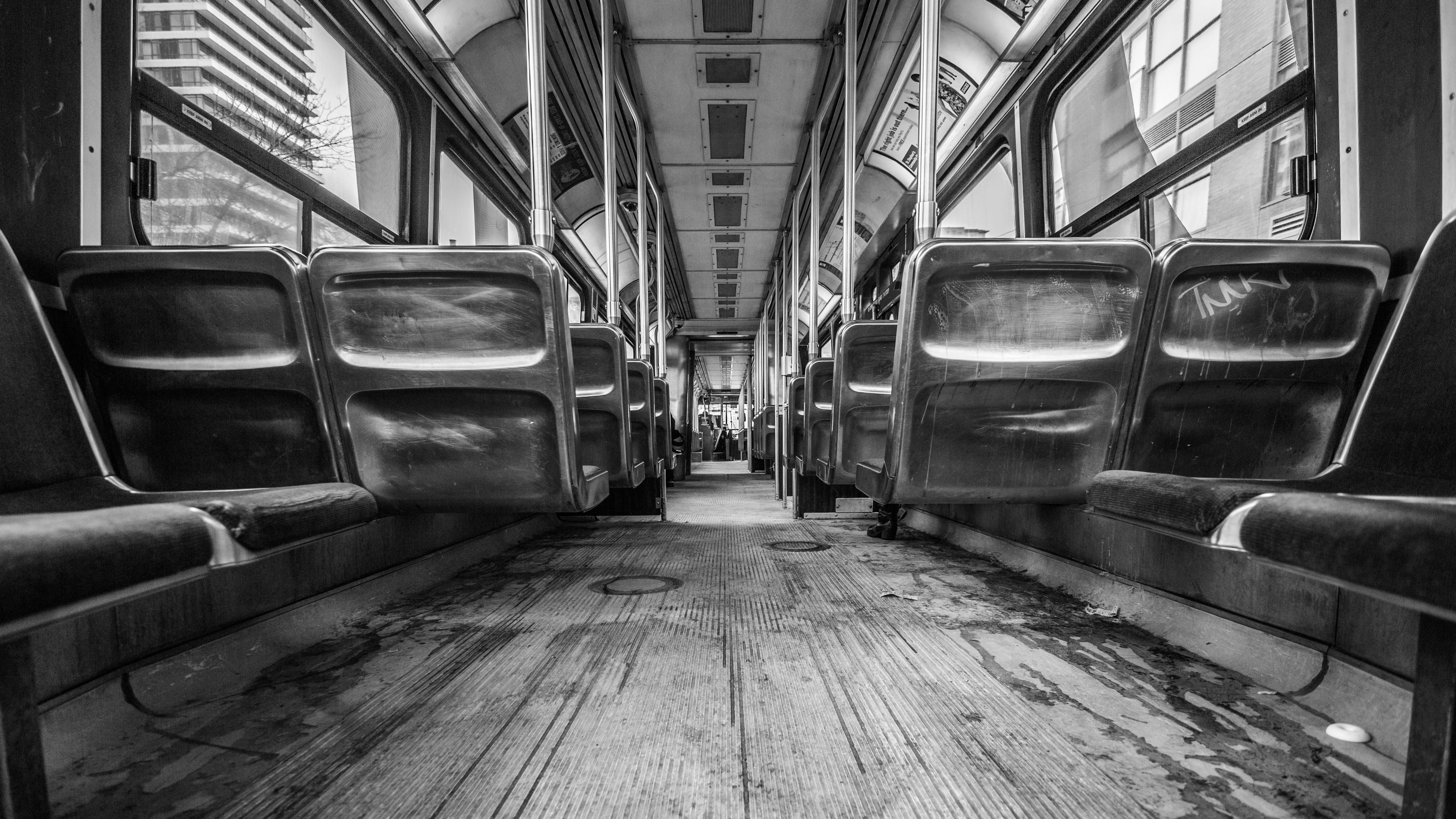 Inside the train illustration in grayscale HD wallpaper   Wallpaper ...