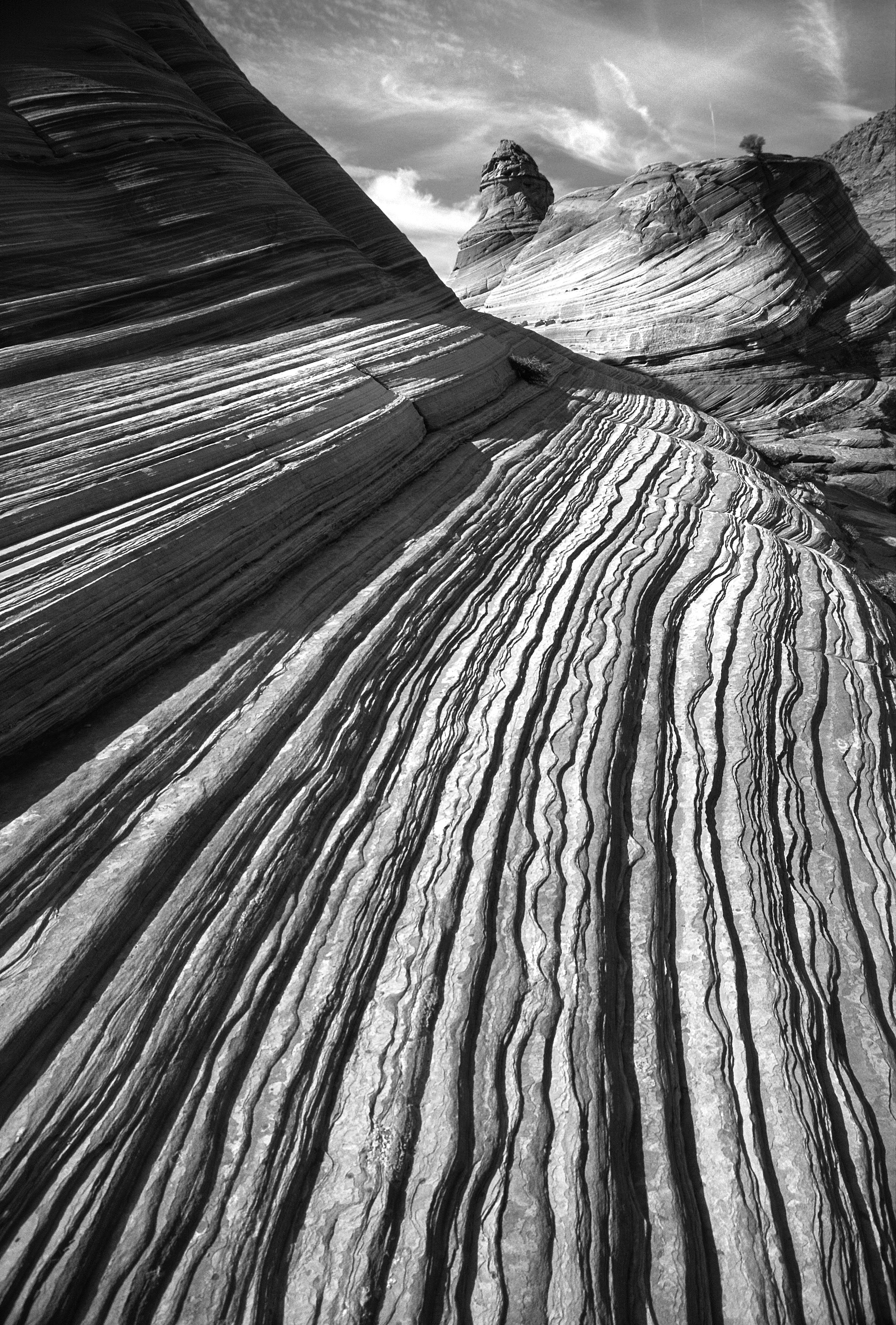 Grayscale Photo of Dessert, Pattern, Rock, Texture, Outdoors, HQ Photo