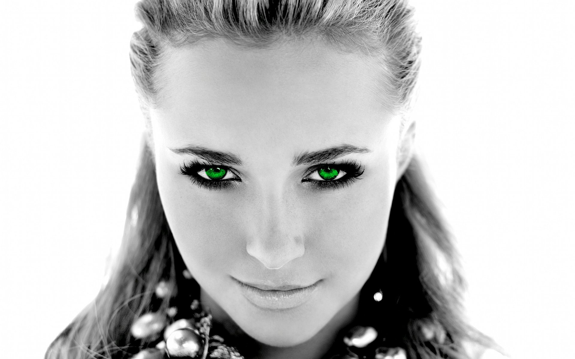 Actress Celebrity Faces Grayscale Green Eyes Hayden Panettiere ...