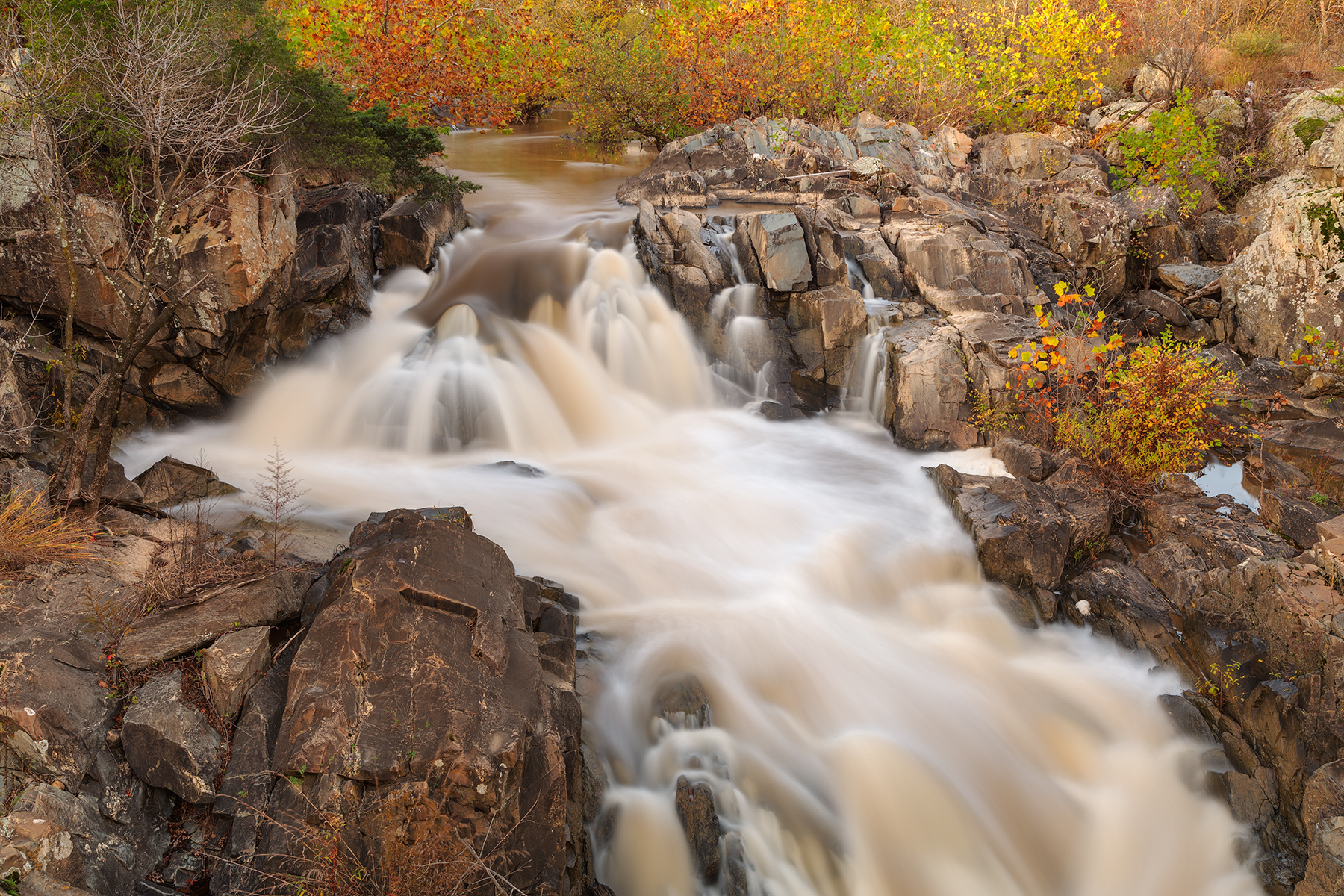 Great falls autumn cascades - hdr photo