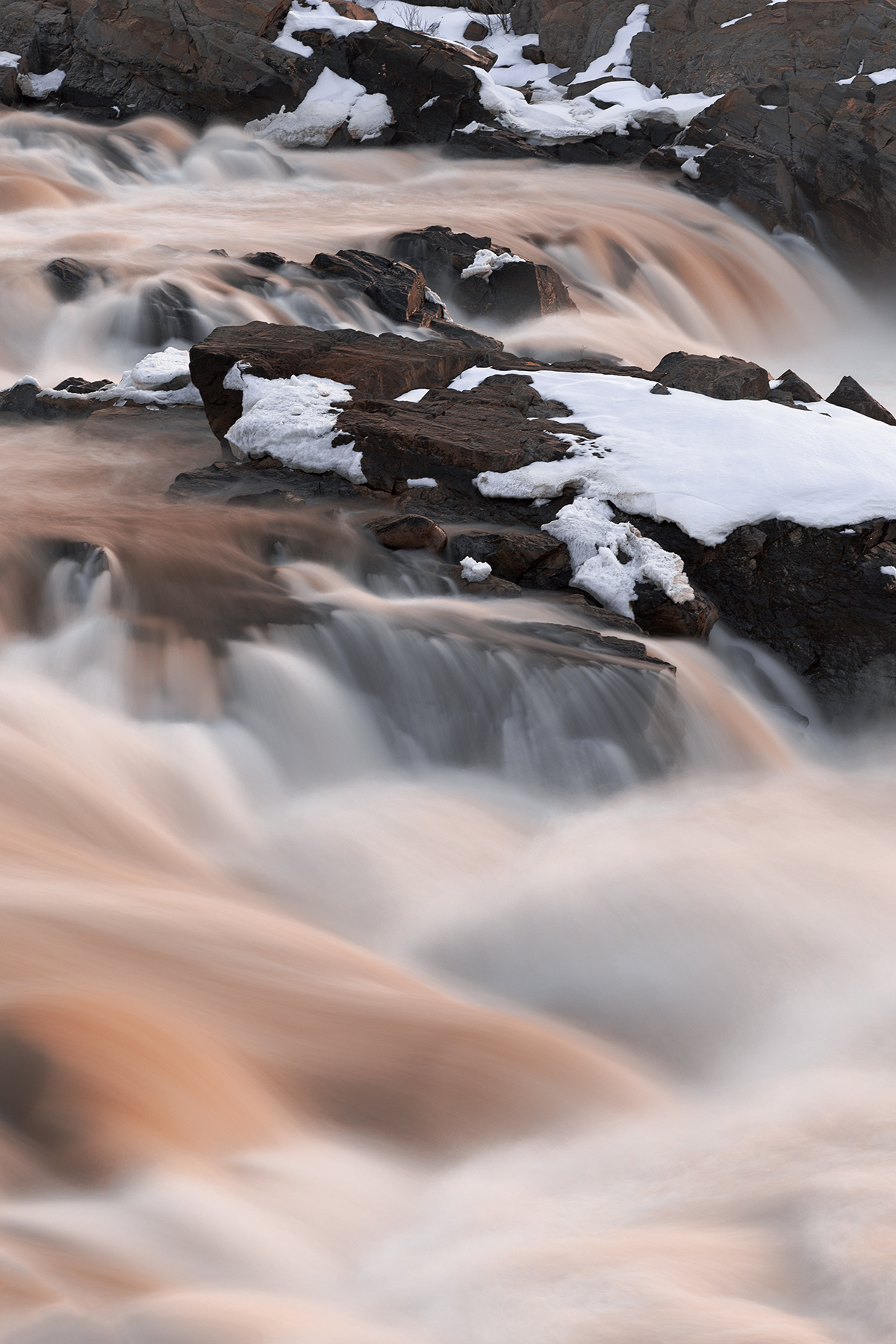 Great Falls - Ruby Winter HDR, America, Red, Shades, Shade, HQ Photo