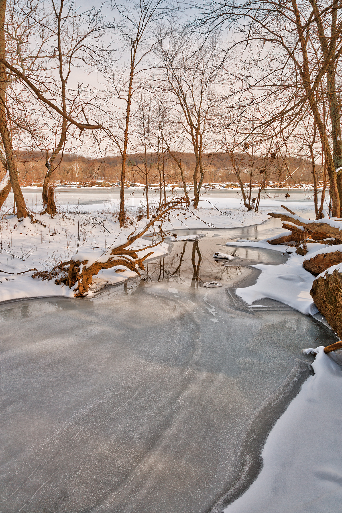 Great falls winter stream - hdr photo