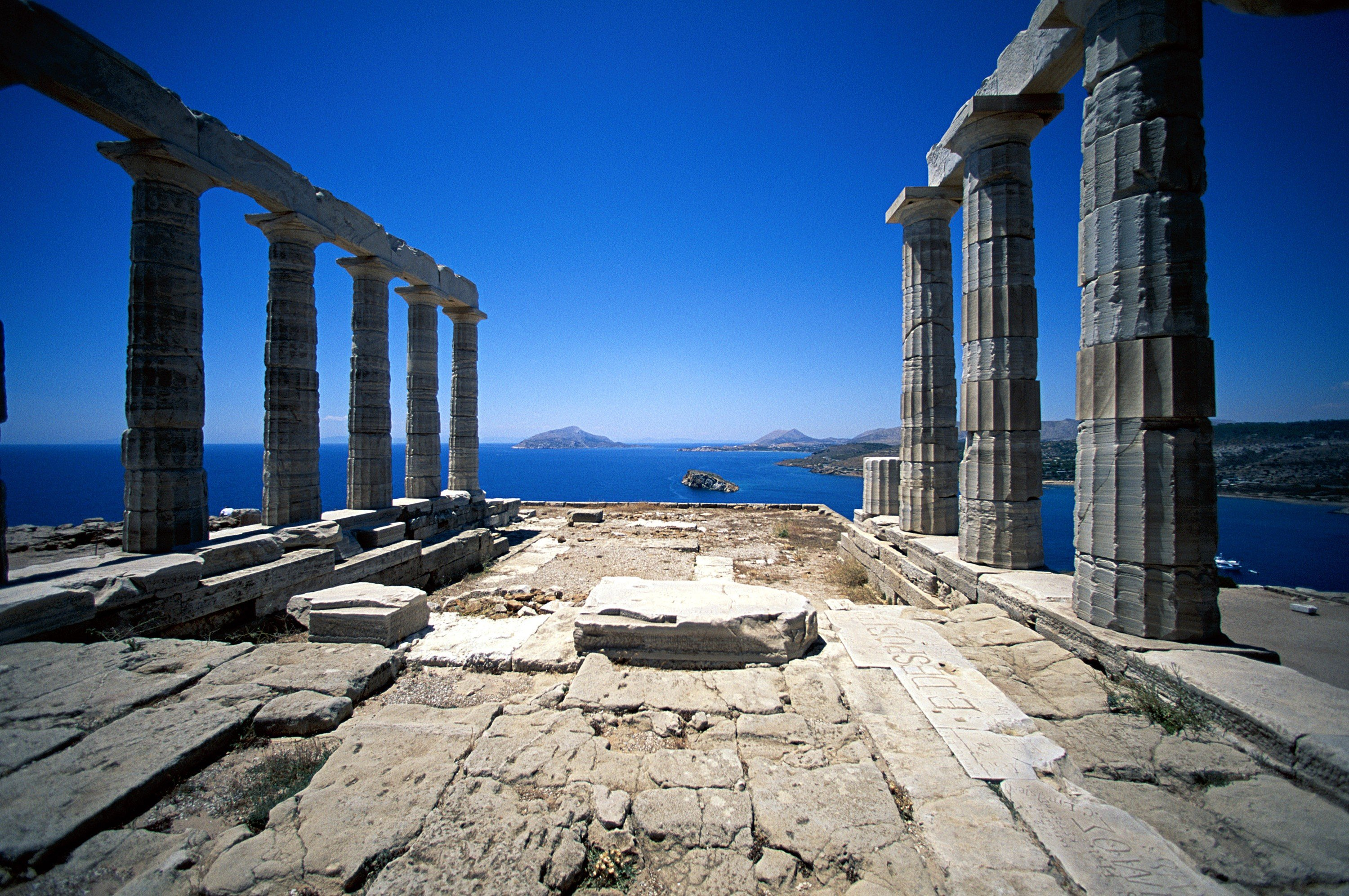 Greek, Architecture, Building, Greece, Ancient, Water Wallpapers HD ...