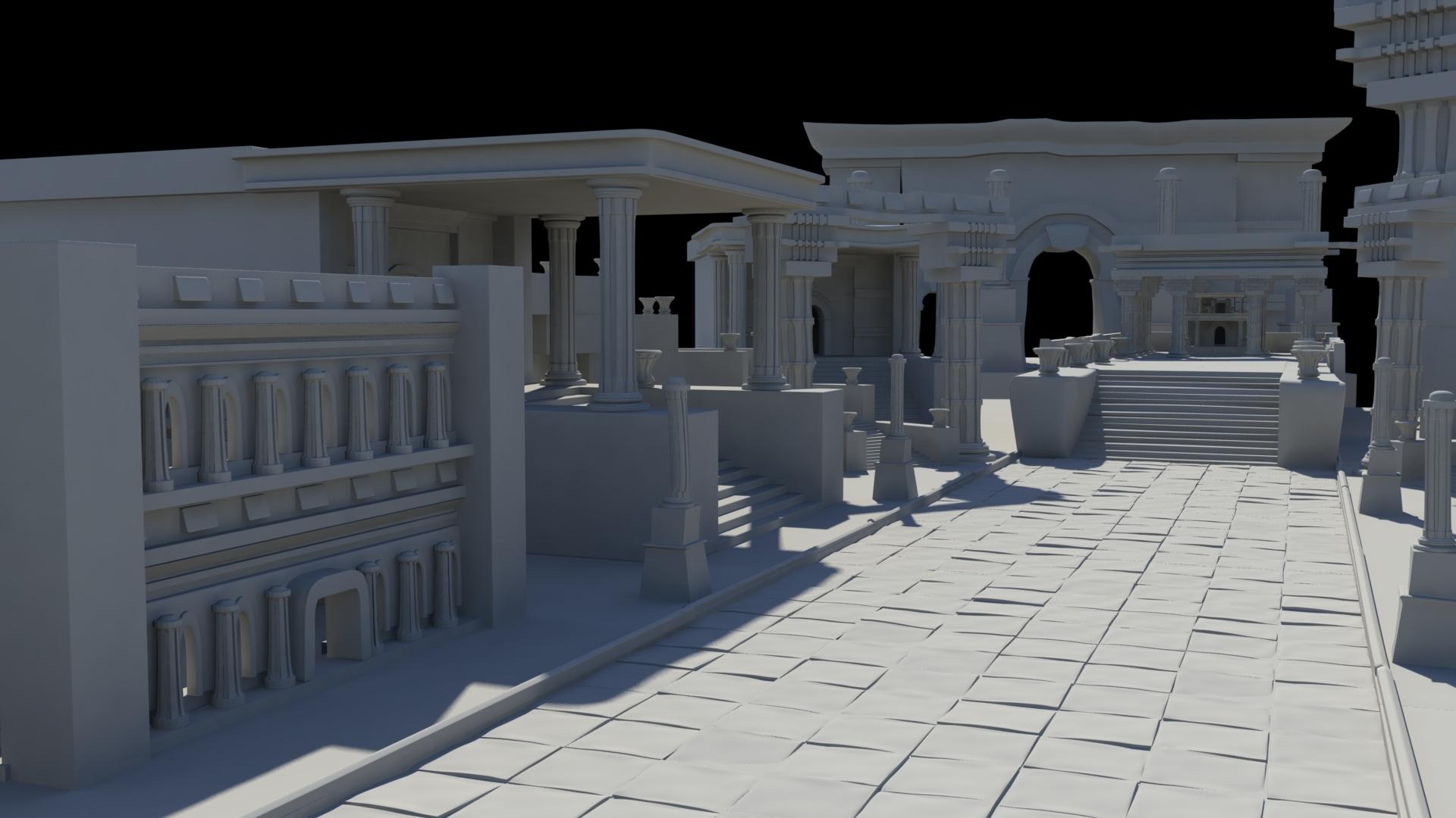 ancient greek roman temples buildings architecture 3D Model