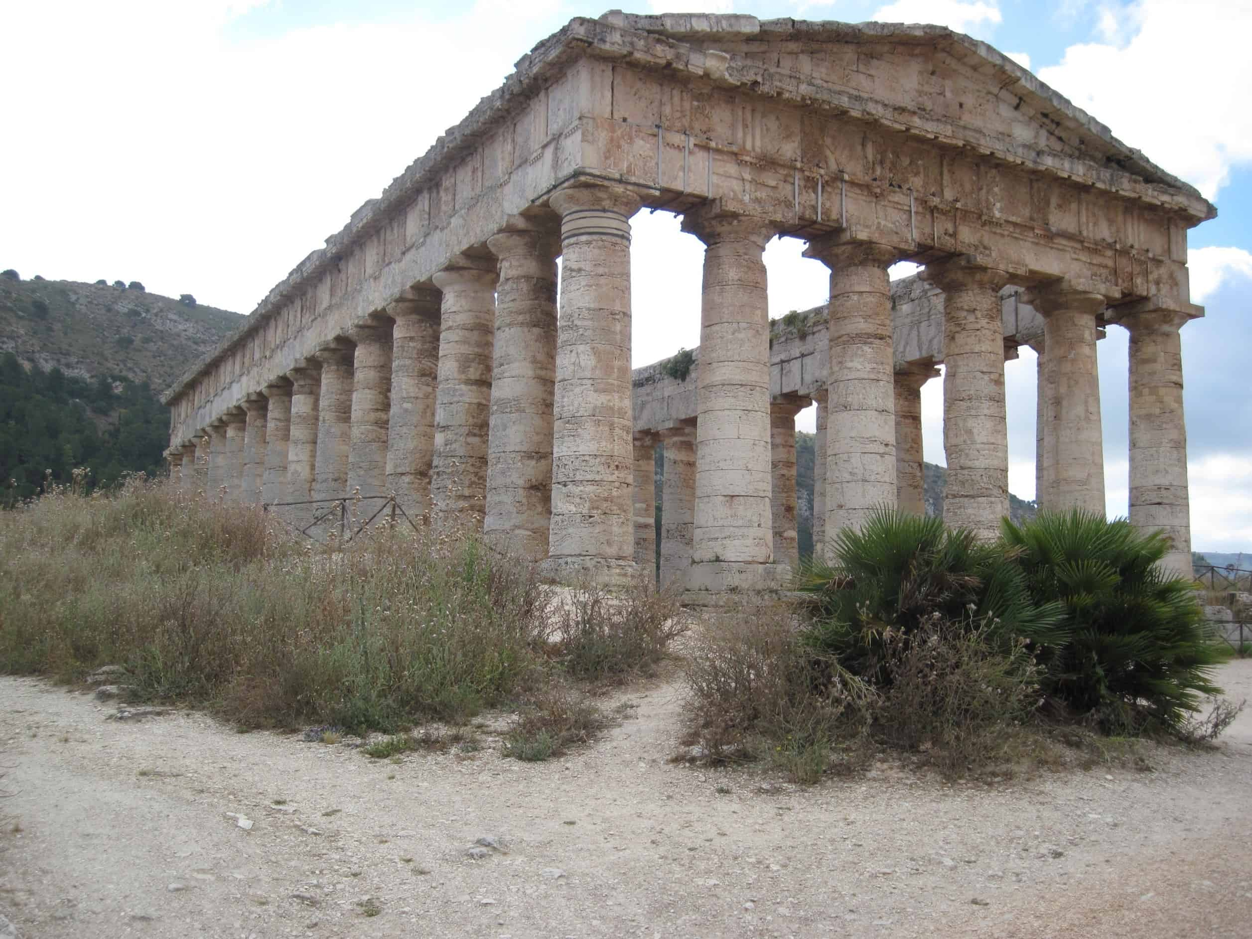 Free picture: Greece, architecture, temple, ancient, old, stone