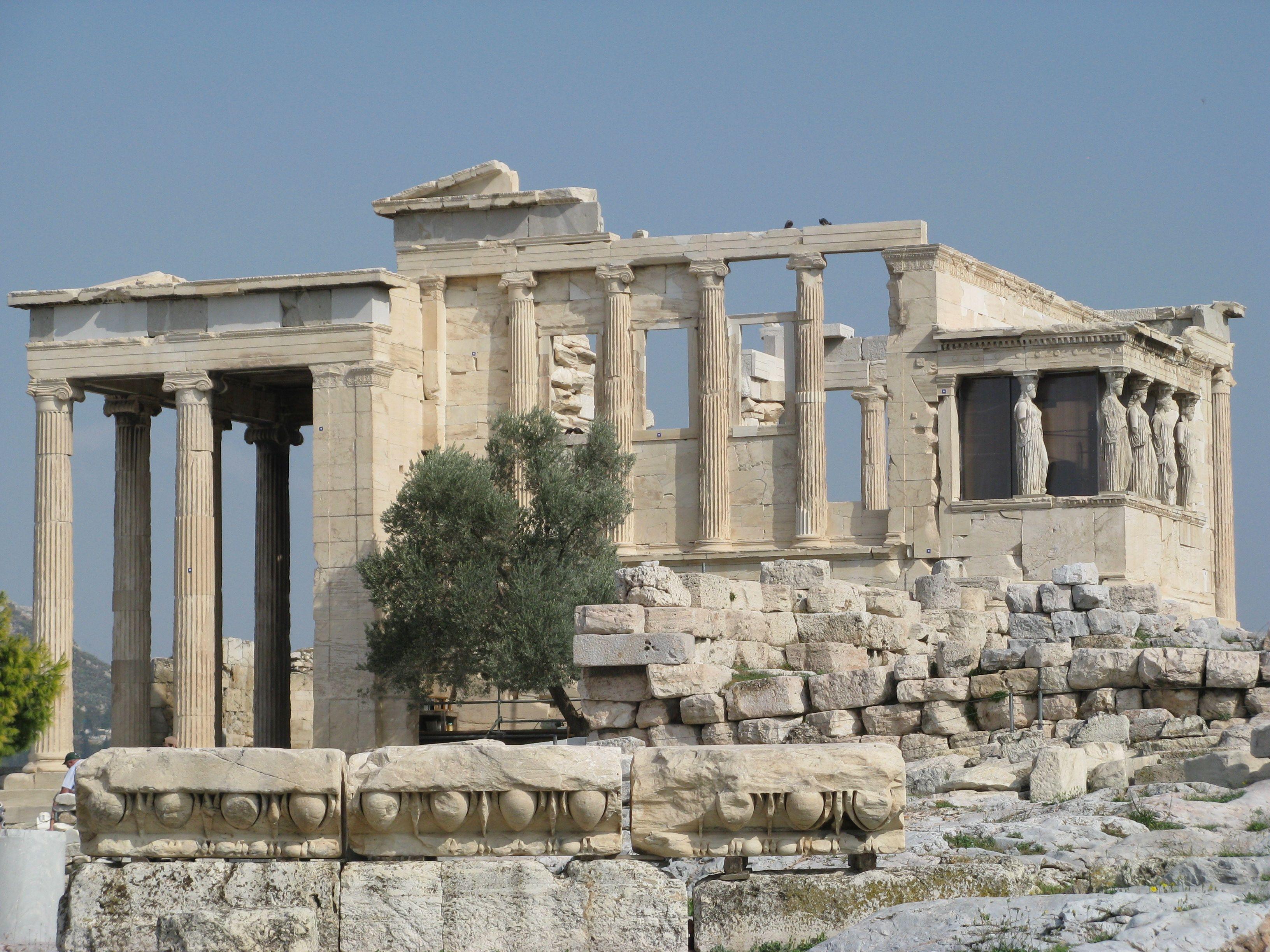 Temple of Erechtheum, Acropolis, Athens, Greece | Ancient Ruins ...