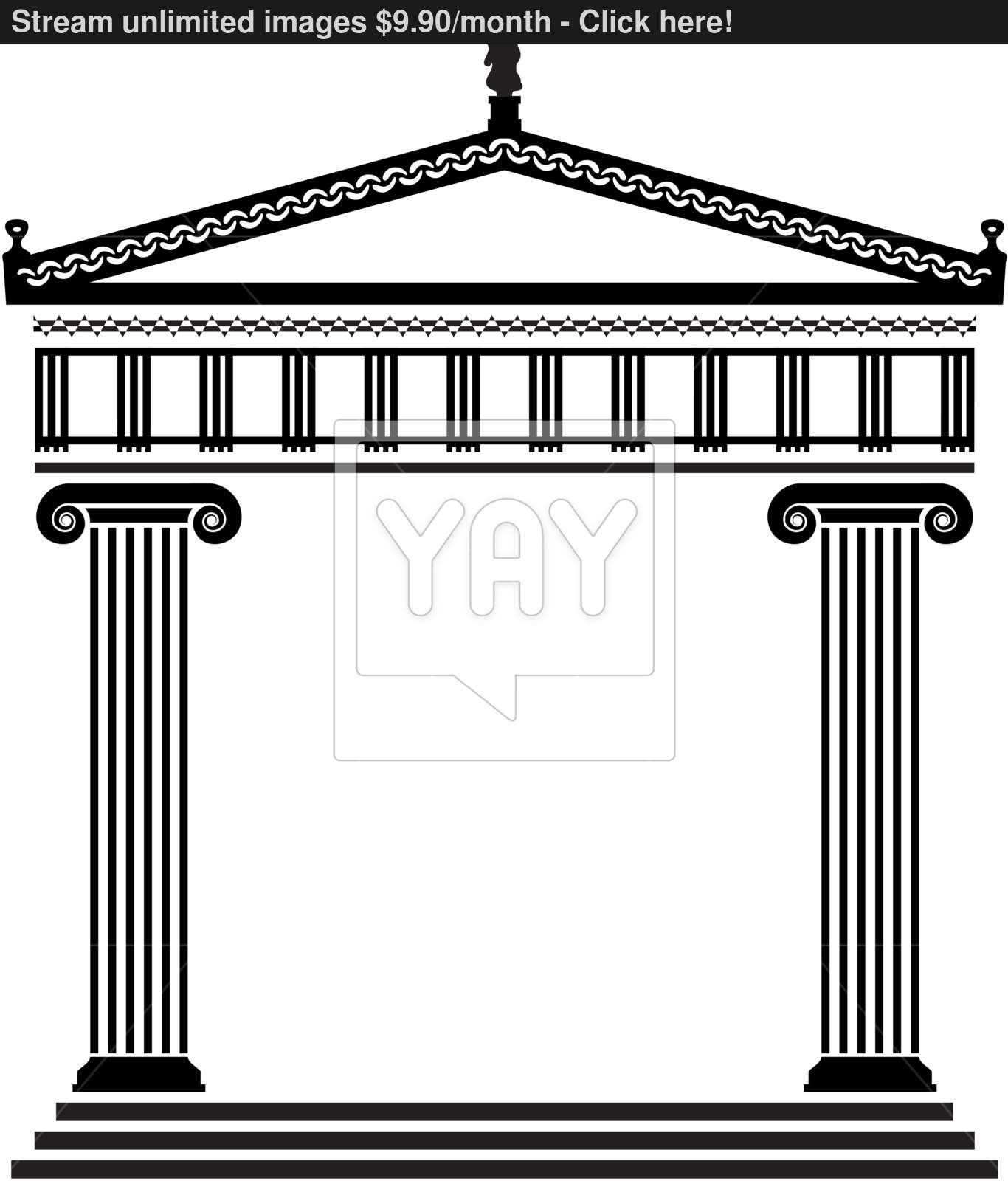 vector ancient greek architecture vector   YayImages.com