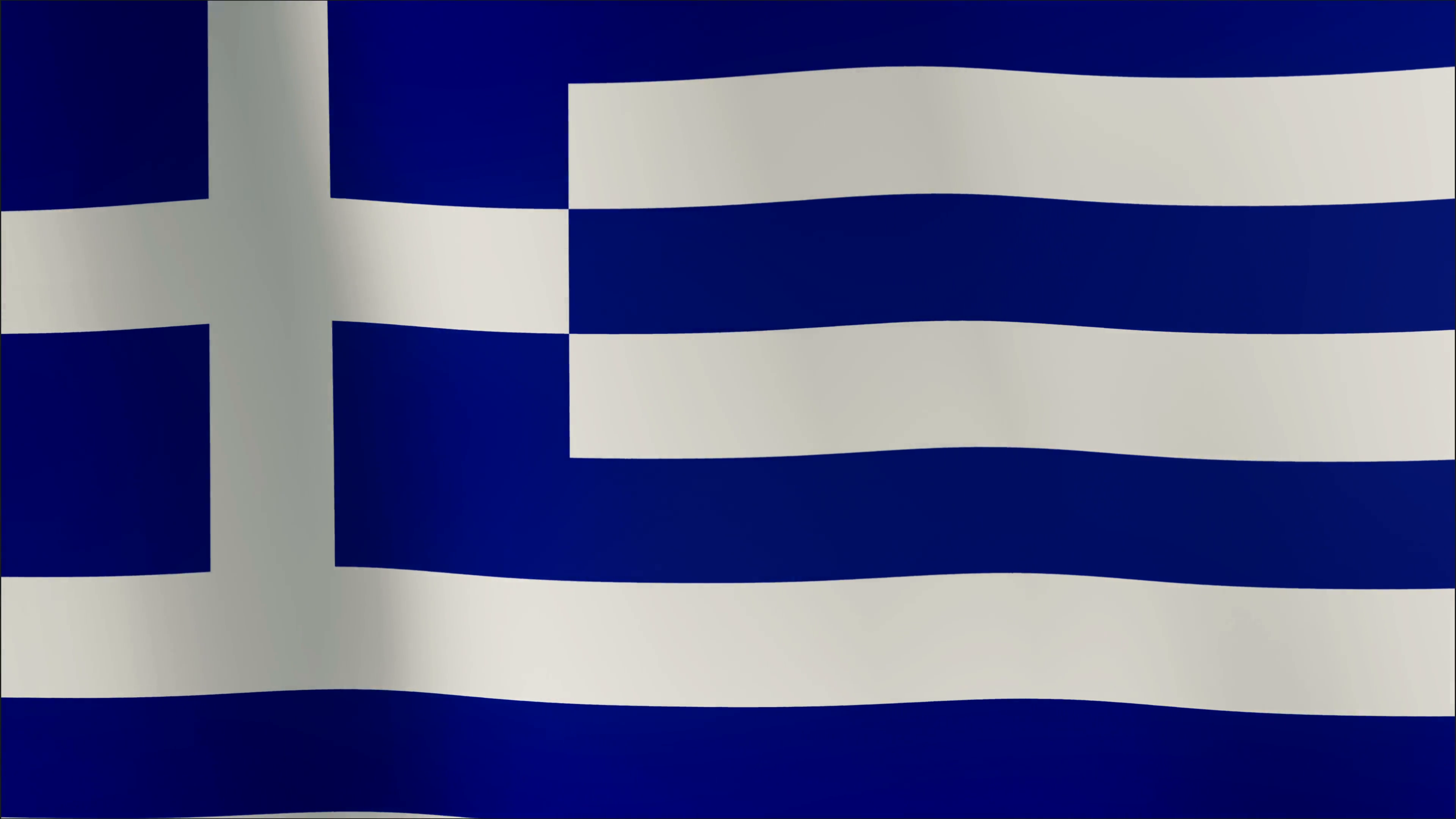 4K - Greek flag in the wind. Part of a series. Motion Background ...