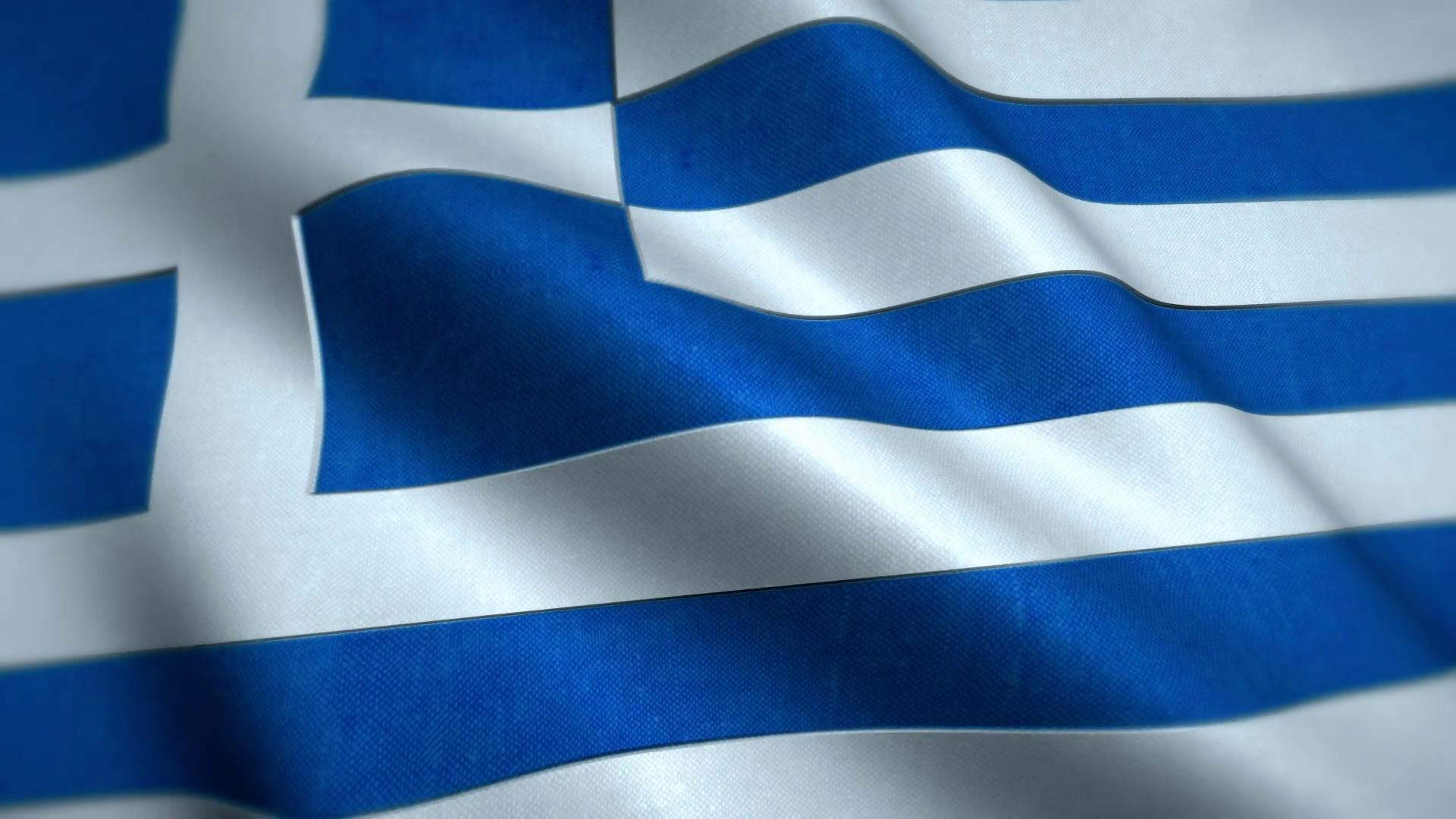 National Flag of Greece - Animated Windy Greek Flag Motion ...