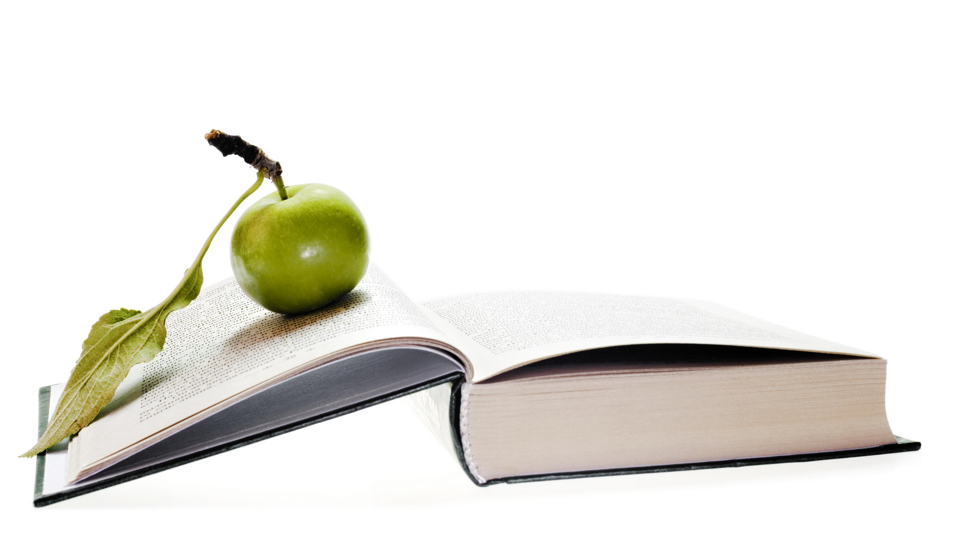 Green Apple on Book, Apple, School, Learning, Literature, HQ Photo