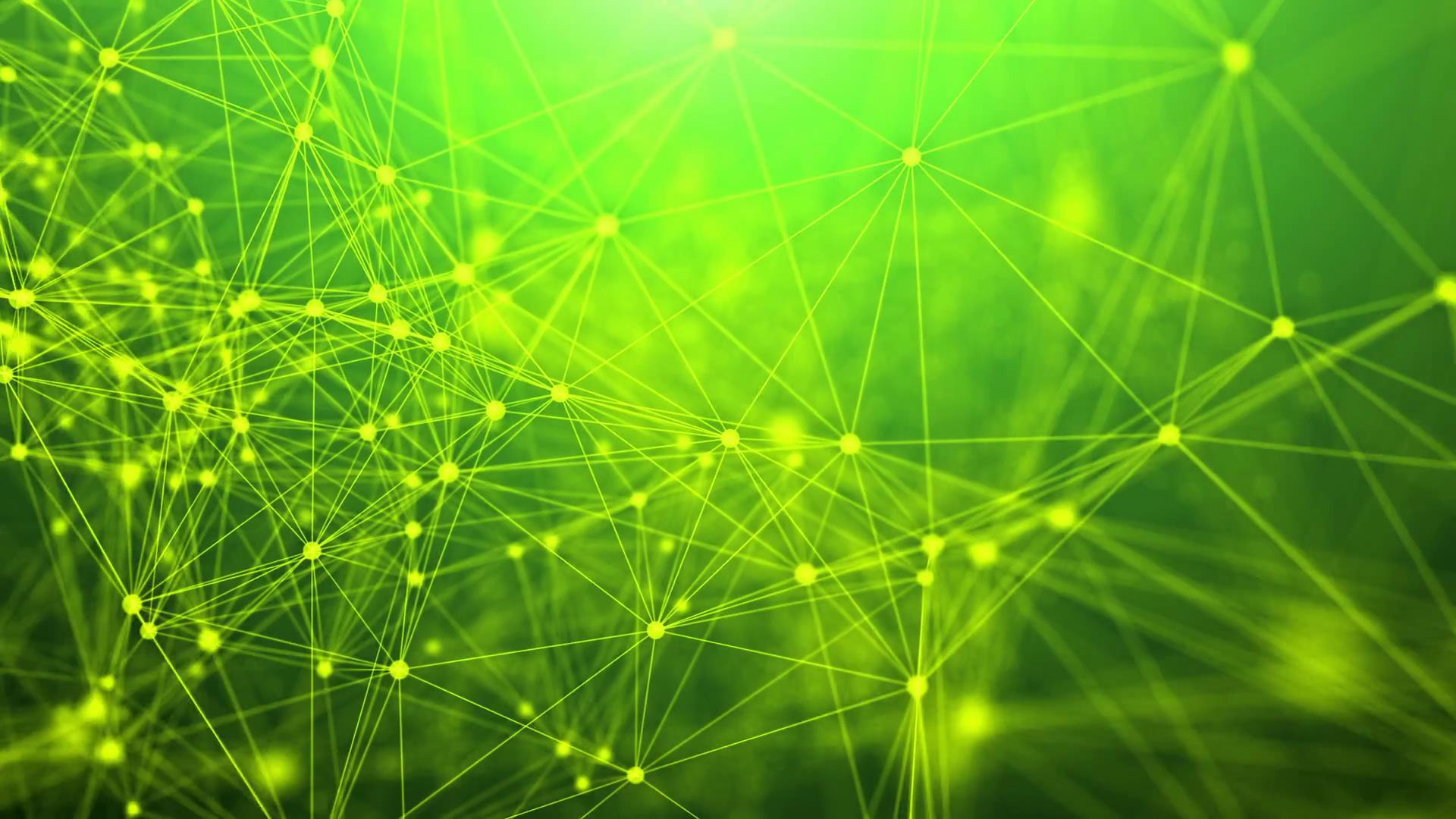 technology network loop green background Motion Background - Videoblocks