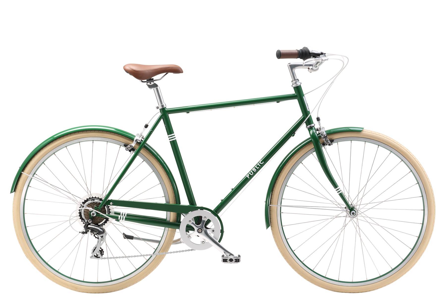 Green bicycle photo