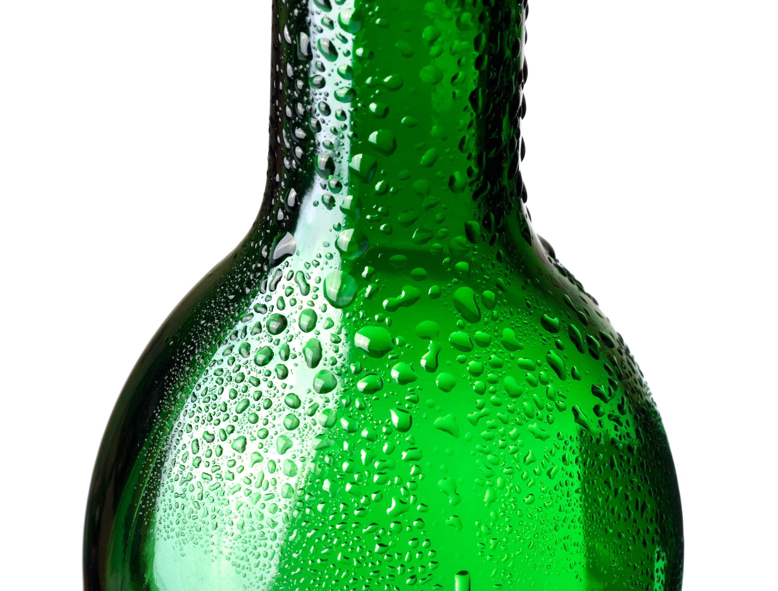Green bottle with water drops, Aqua, Pure, Healthy, Isolated, HQ Photo