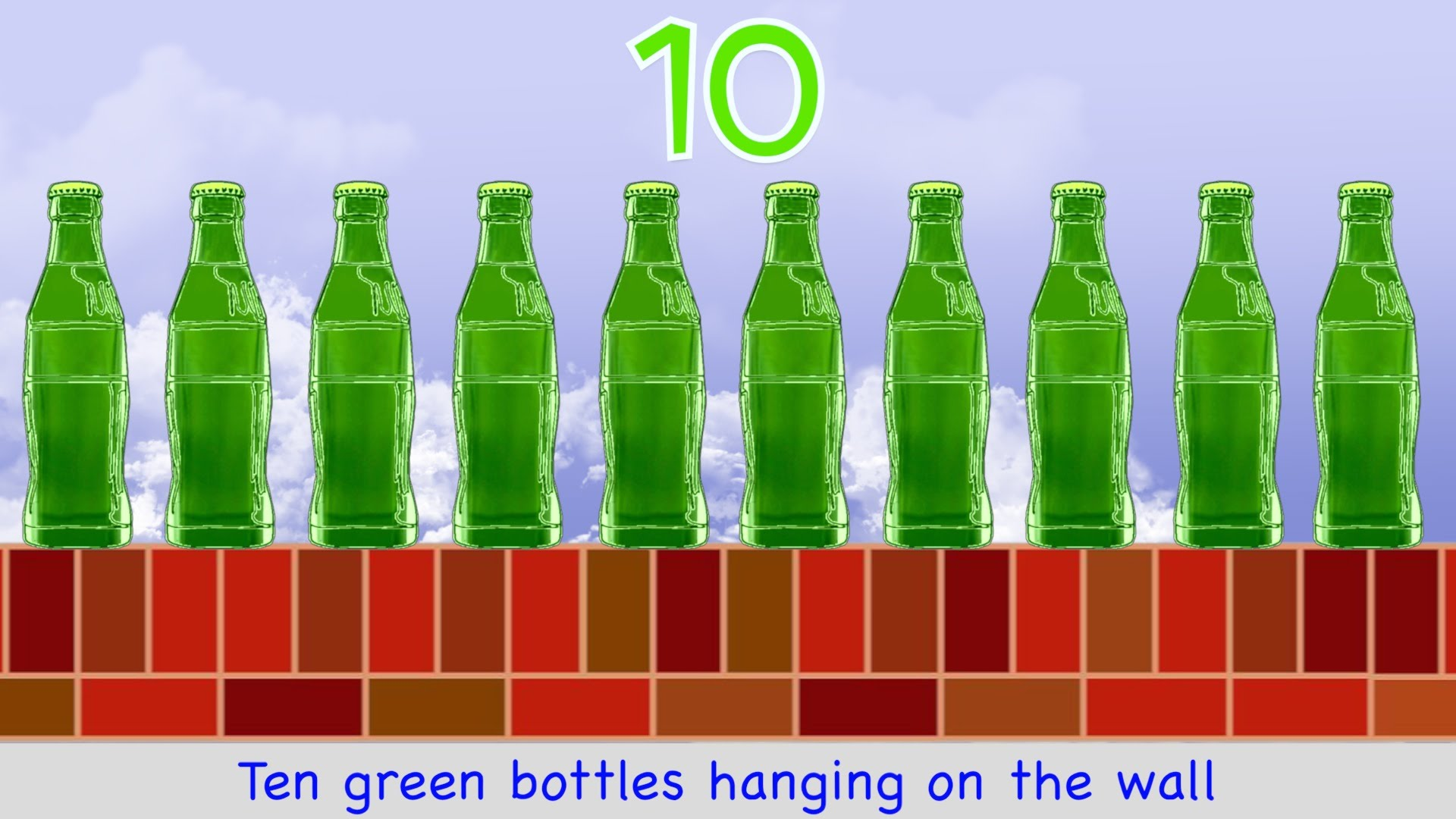 Green bottles photo
