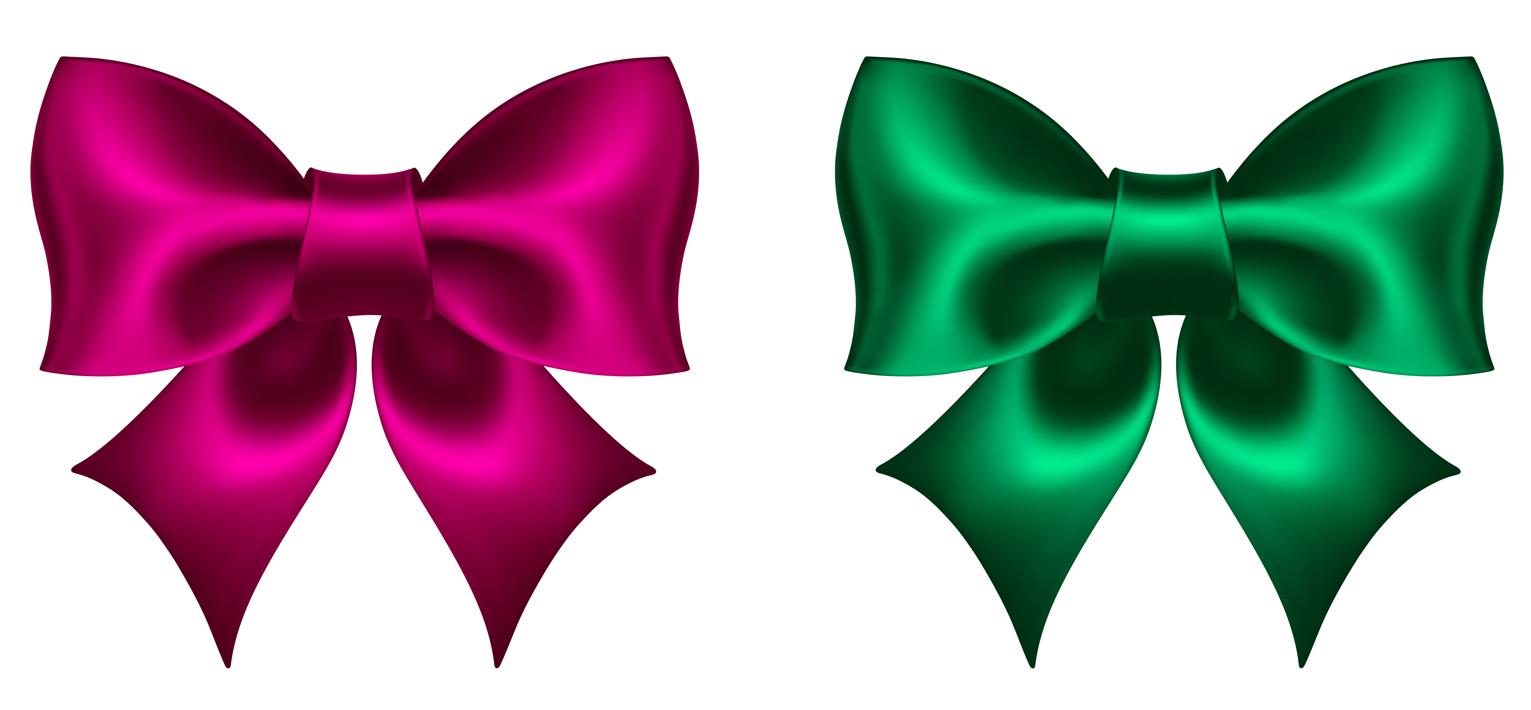 Pink and Green Bow PNG Clipart Picture | Gallery Yopriceville ...
