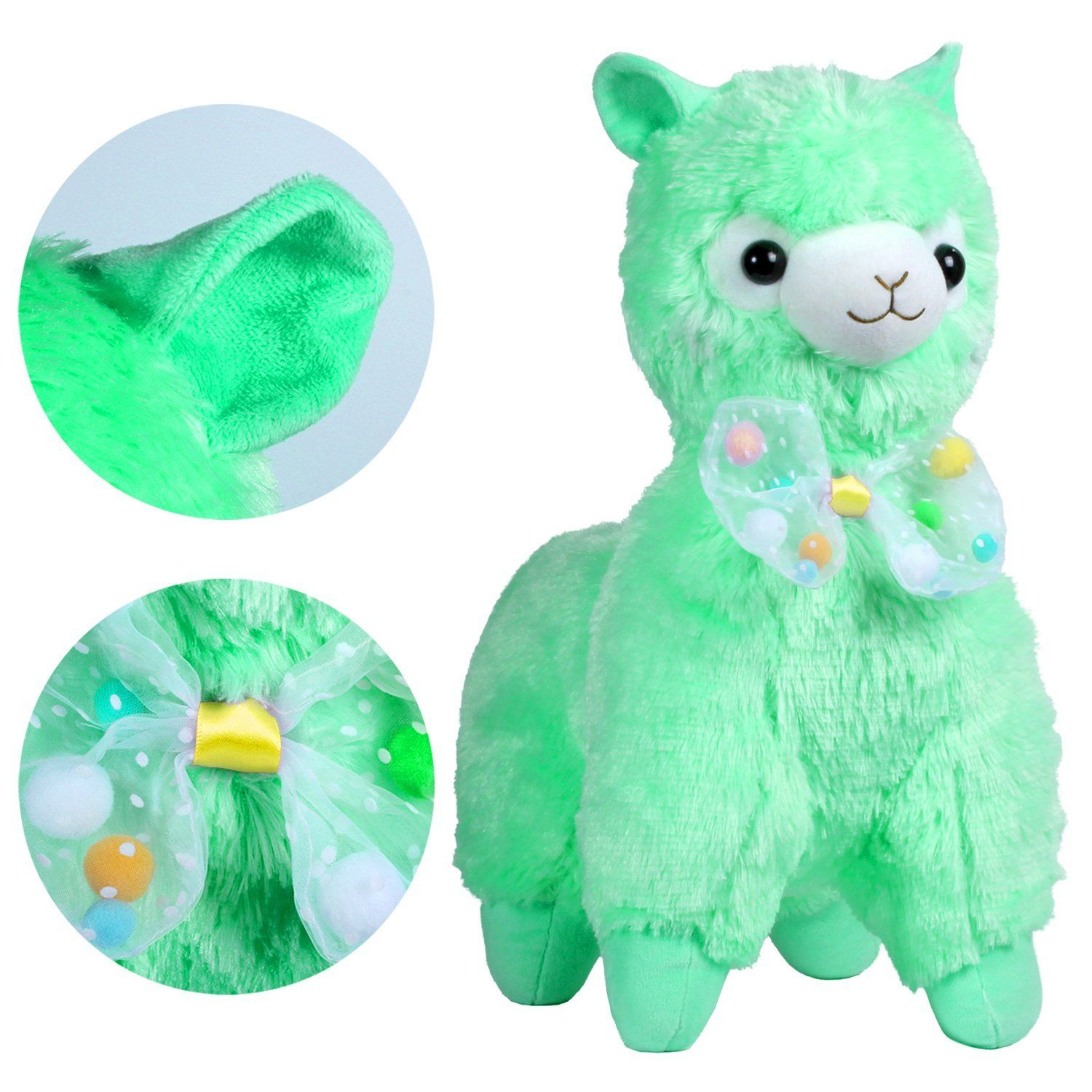 KSB 20 Giant HUGE Green Bow Tie Plush Alpaca 100 Plush Stuffed ...
