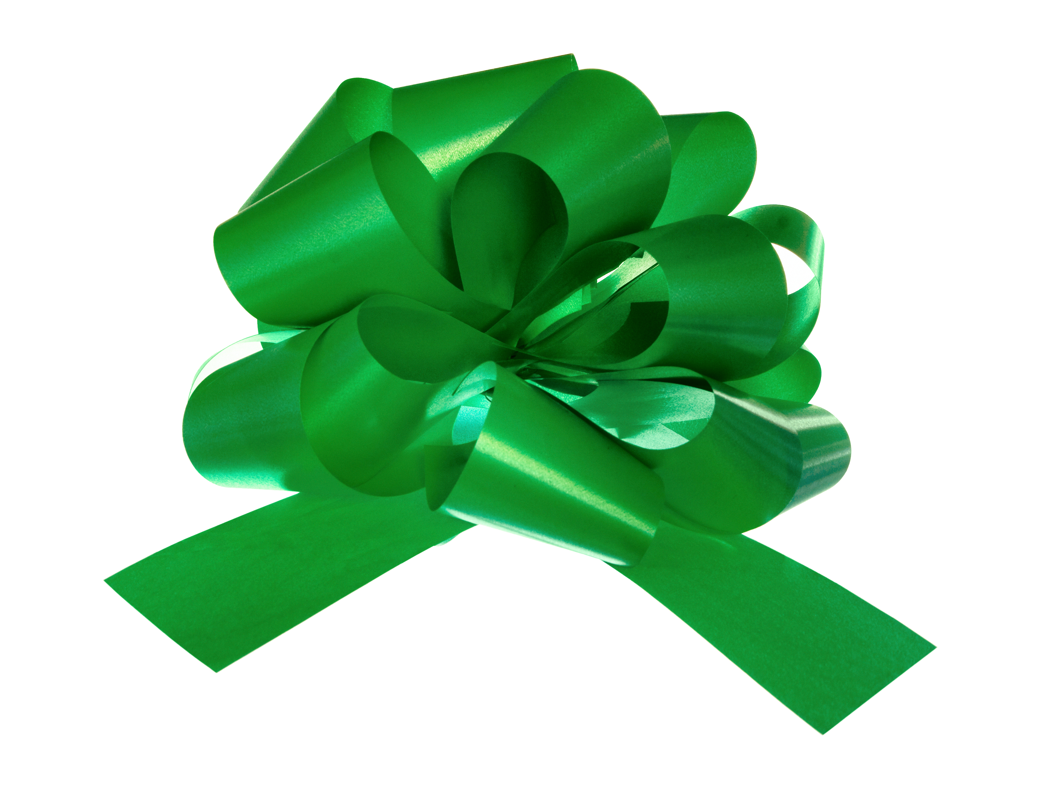 Green bow, Anniversary, Paper, Holiday, Isolated, HQ Photo