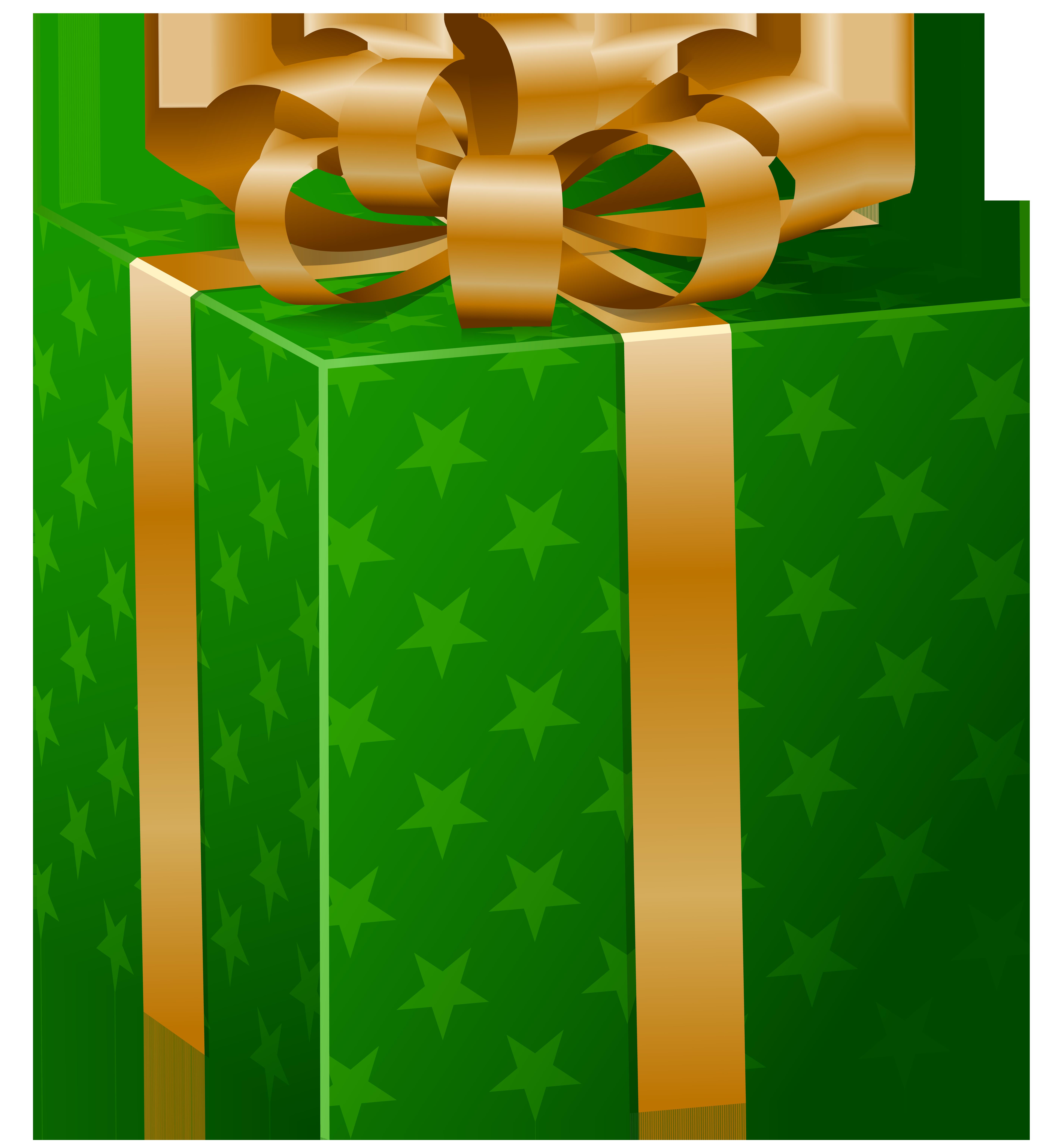 Green gift box photo