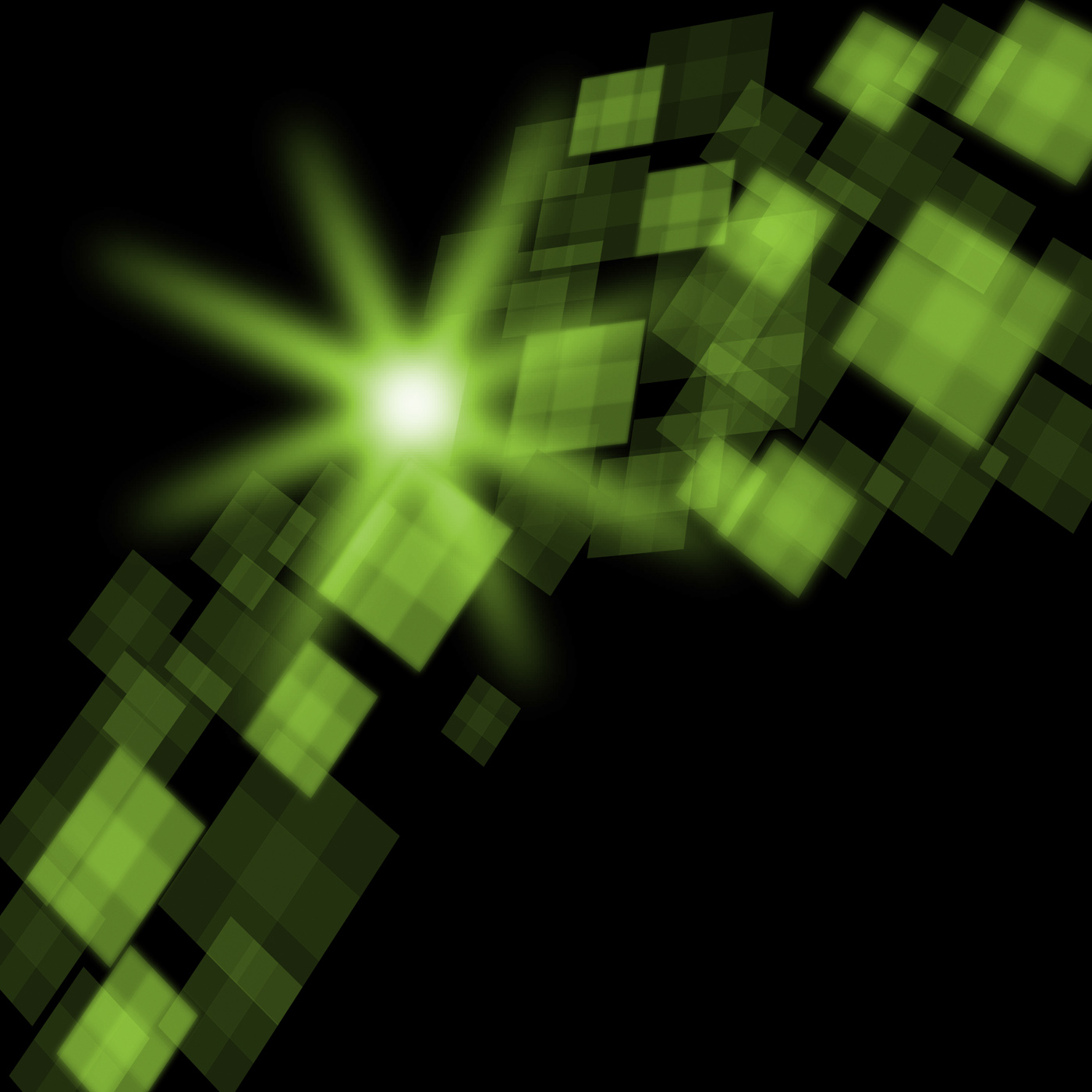 Green cubes background means futuristic concept or pixeled design photo