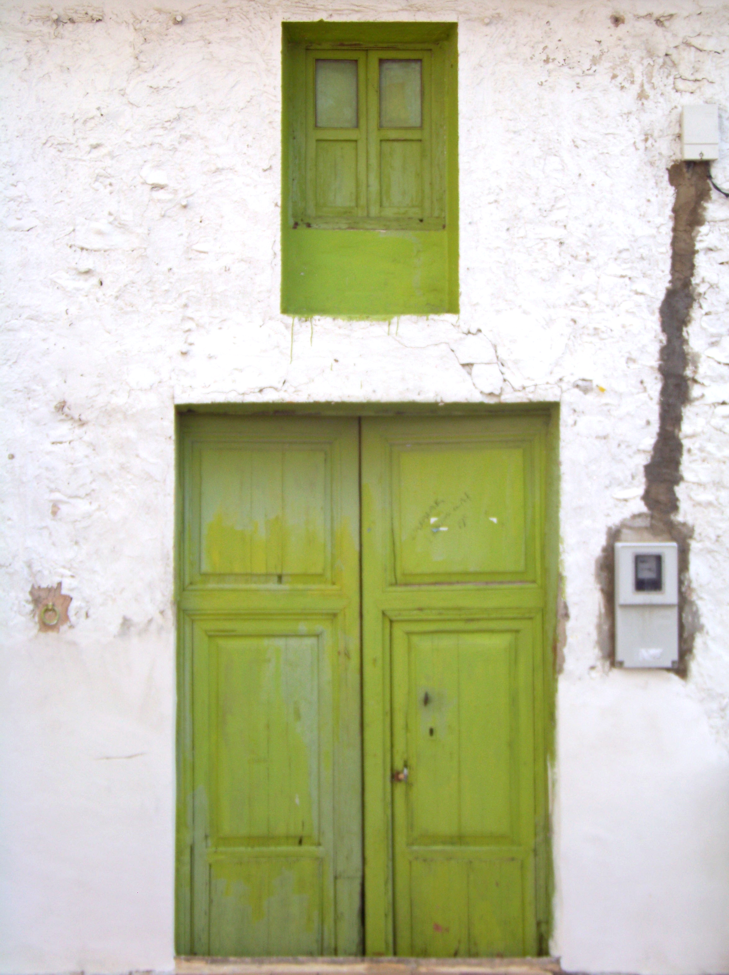 Green Door, Abandoned, Door, Faded, Green, HQ Photo