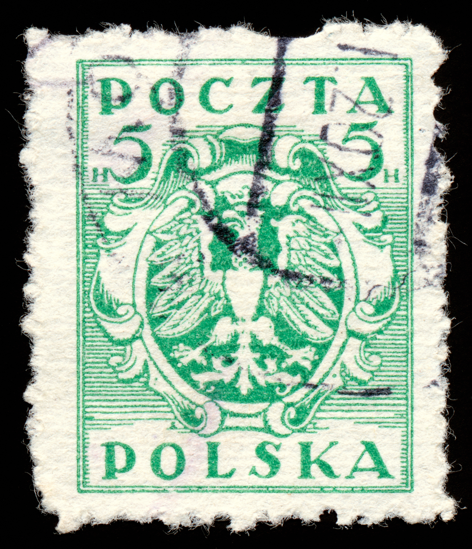 Green eagle crest stamp photo