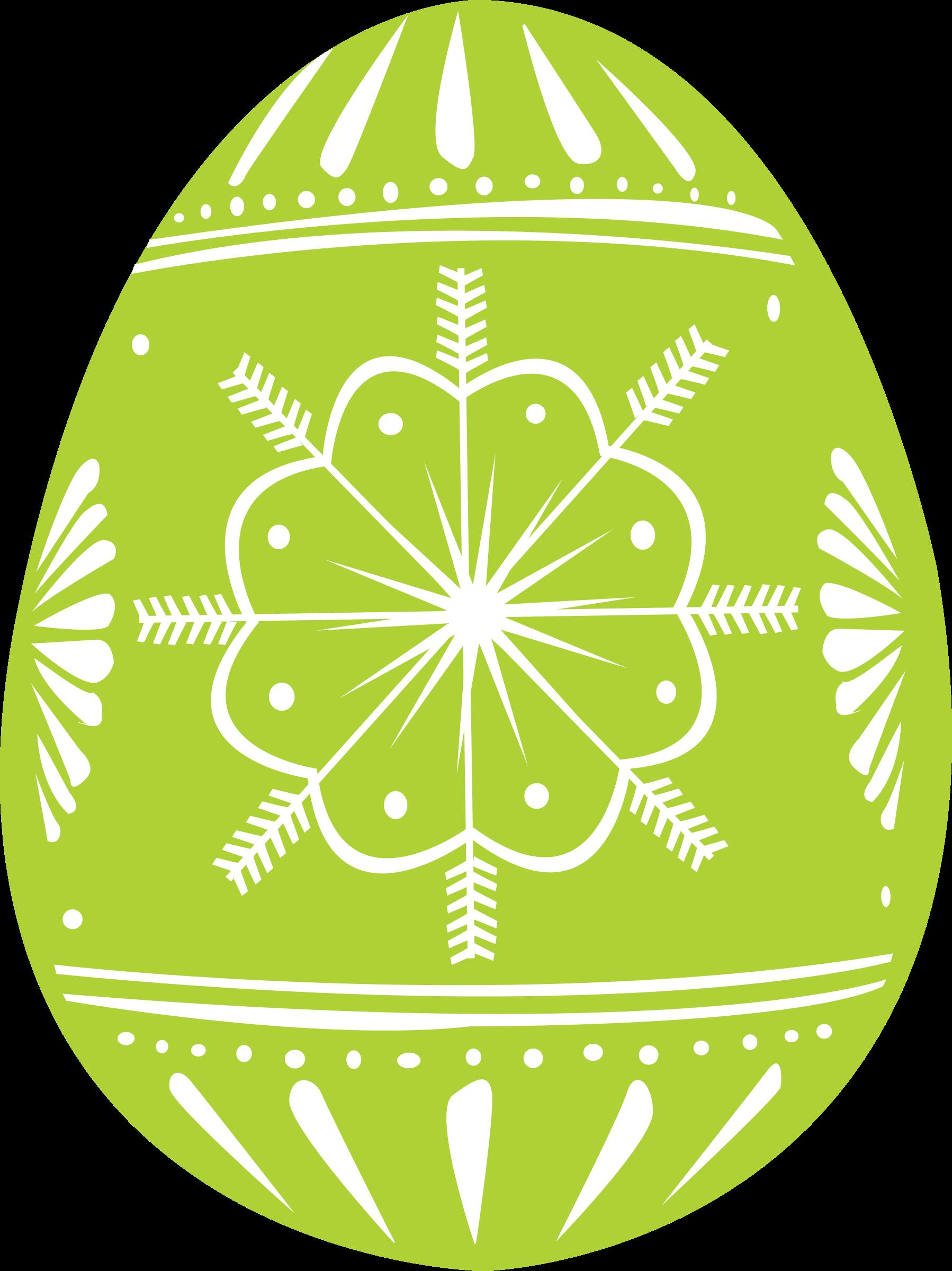 Clipart - easter egg green