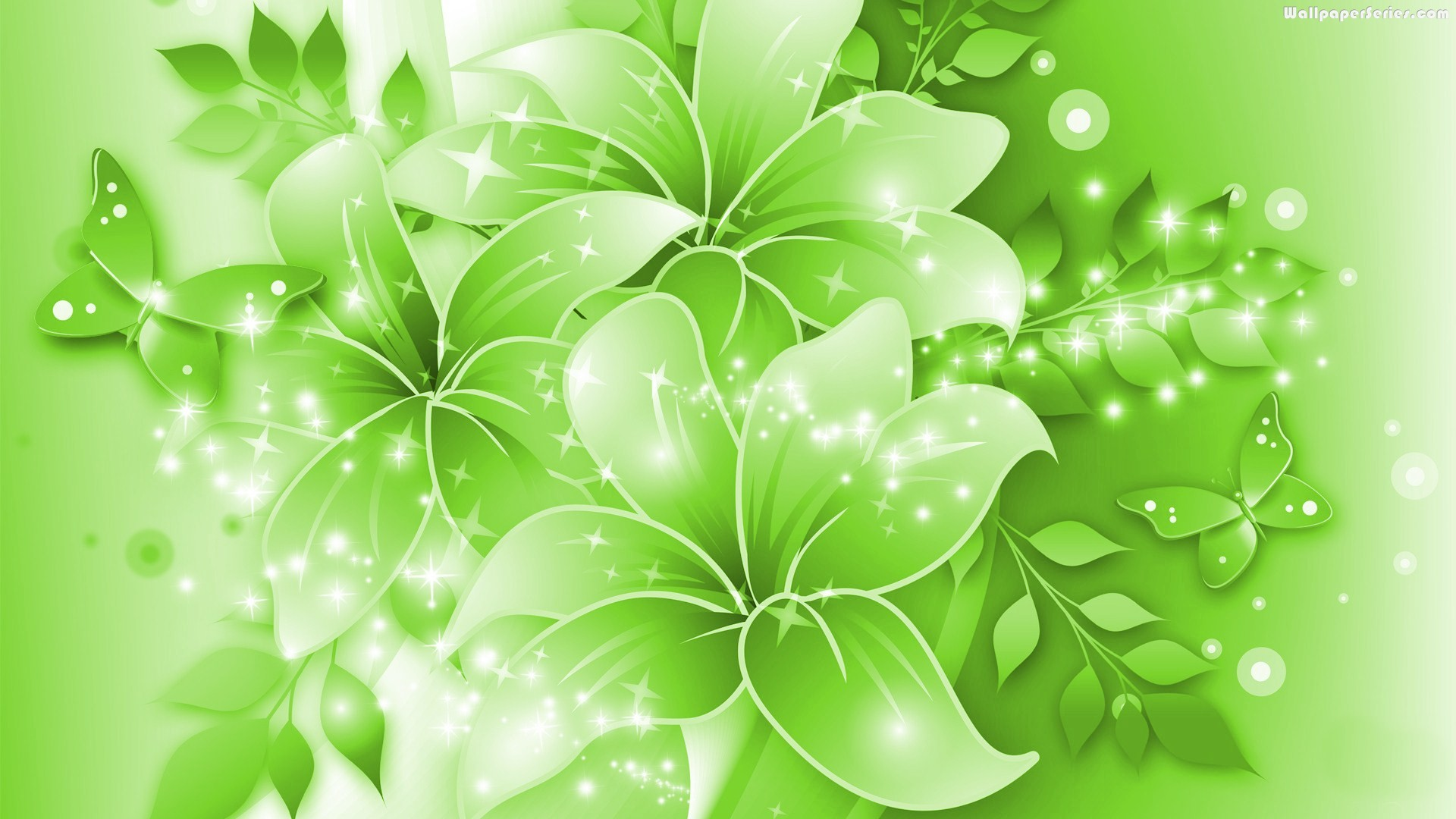Green floral background photo