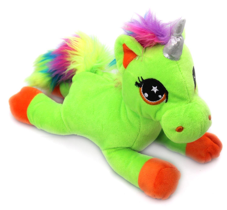 Snuggle Pals Plush Rainbow Unicorn Soft Toy ~ Purple by Carousel ...