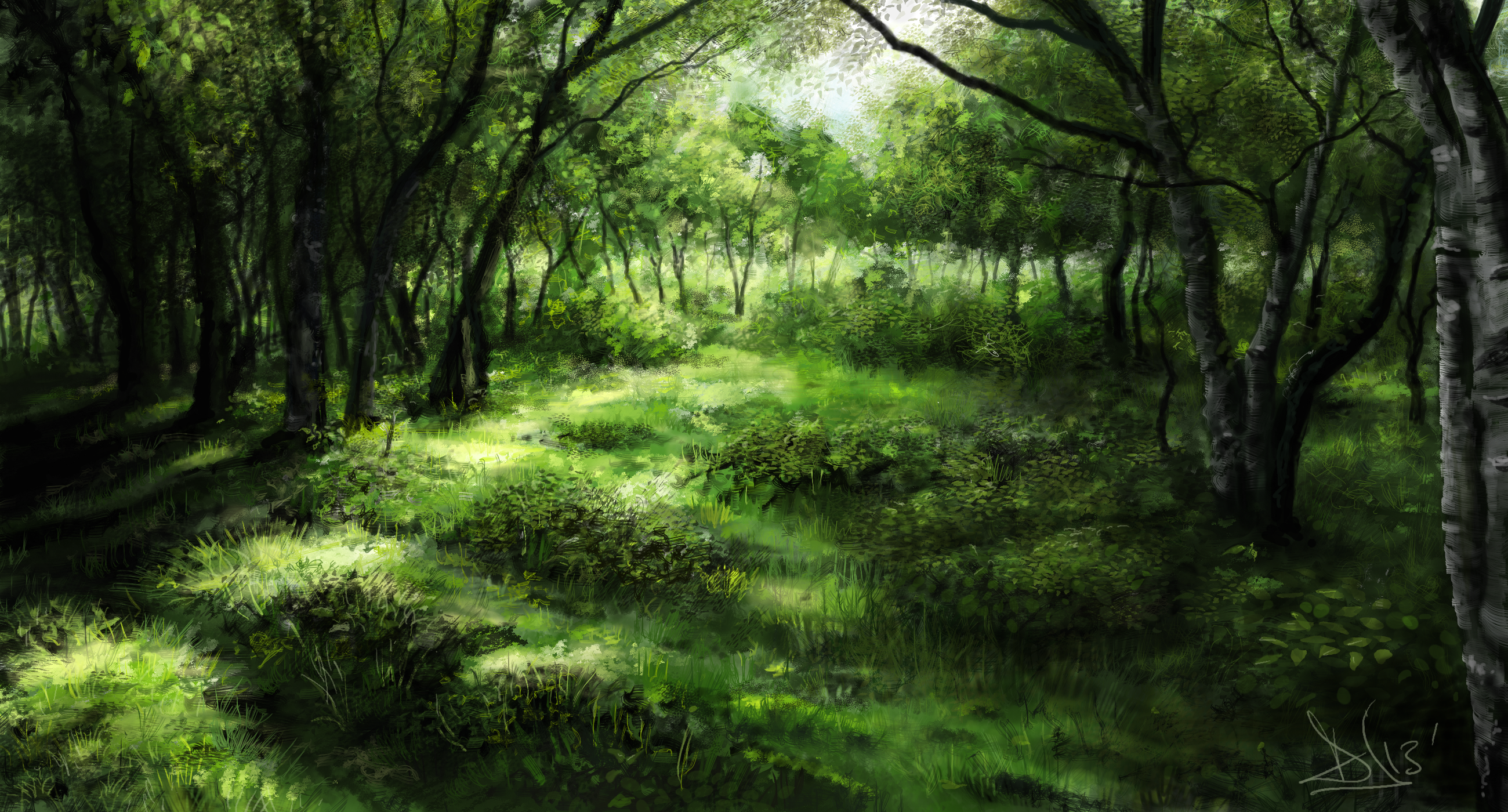 Green forest 1 of 3 by Sketchbookuniverse on DeviantArt