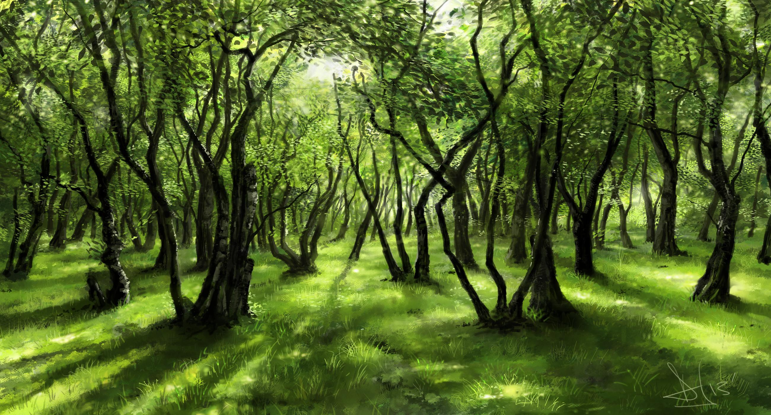 Green forest 2 of 3 by Sketchbookuniverse on DeviantArt