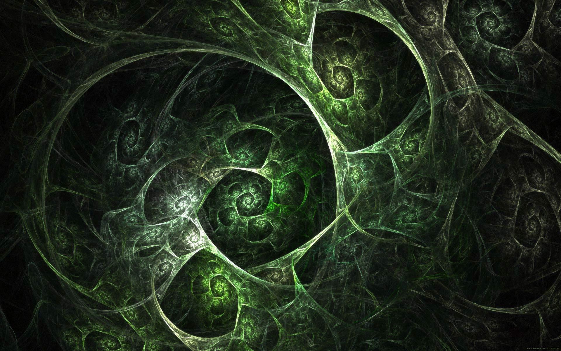 Fractal Green Pattern Wallpaper (7227) - Wallpaperesque
