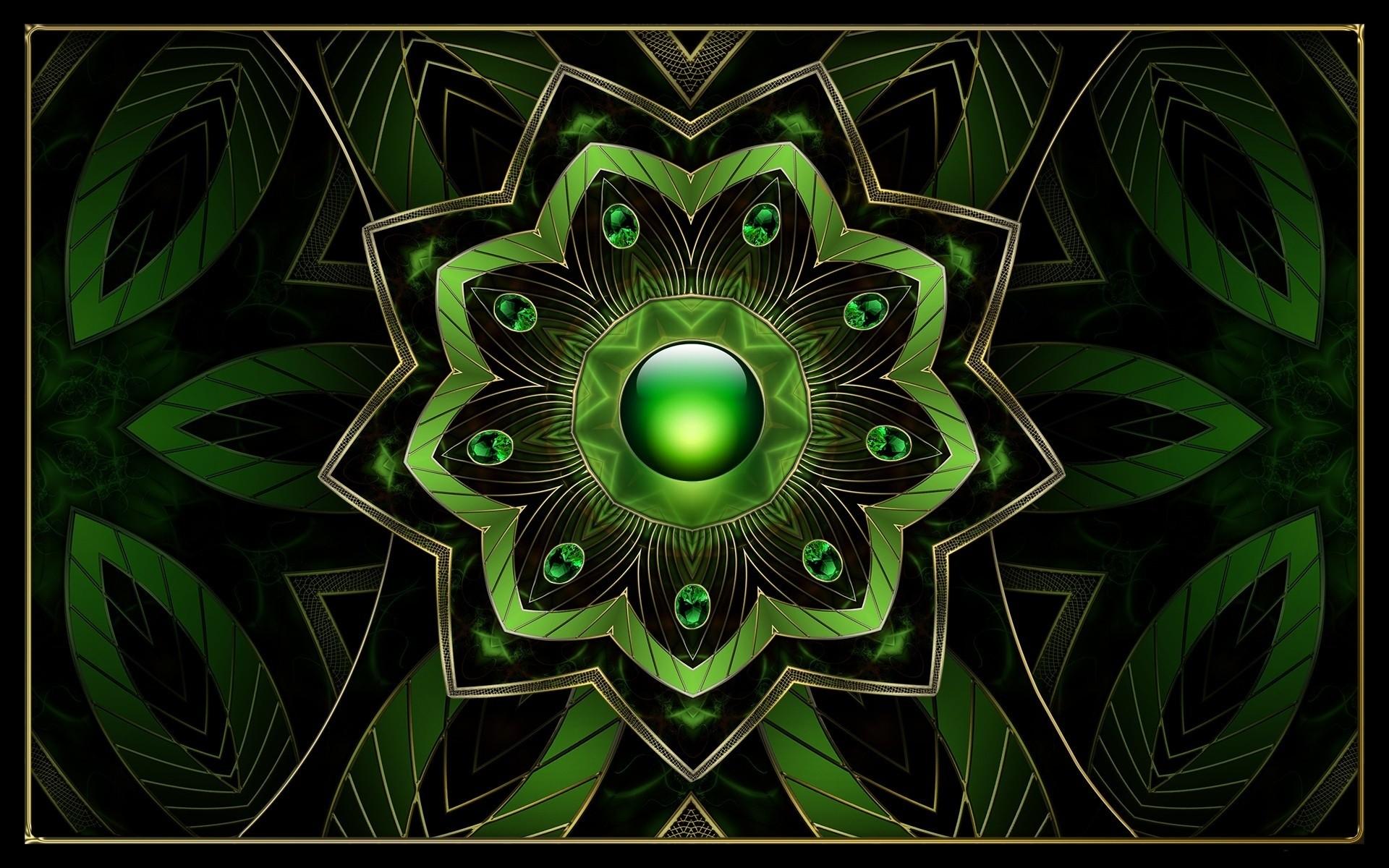 Green Fractal Art - Wallpaper #43354