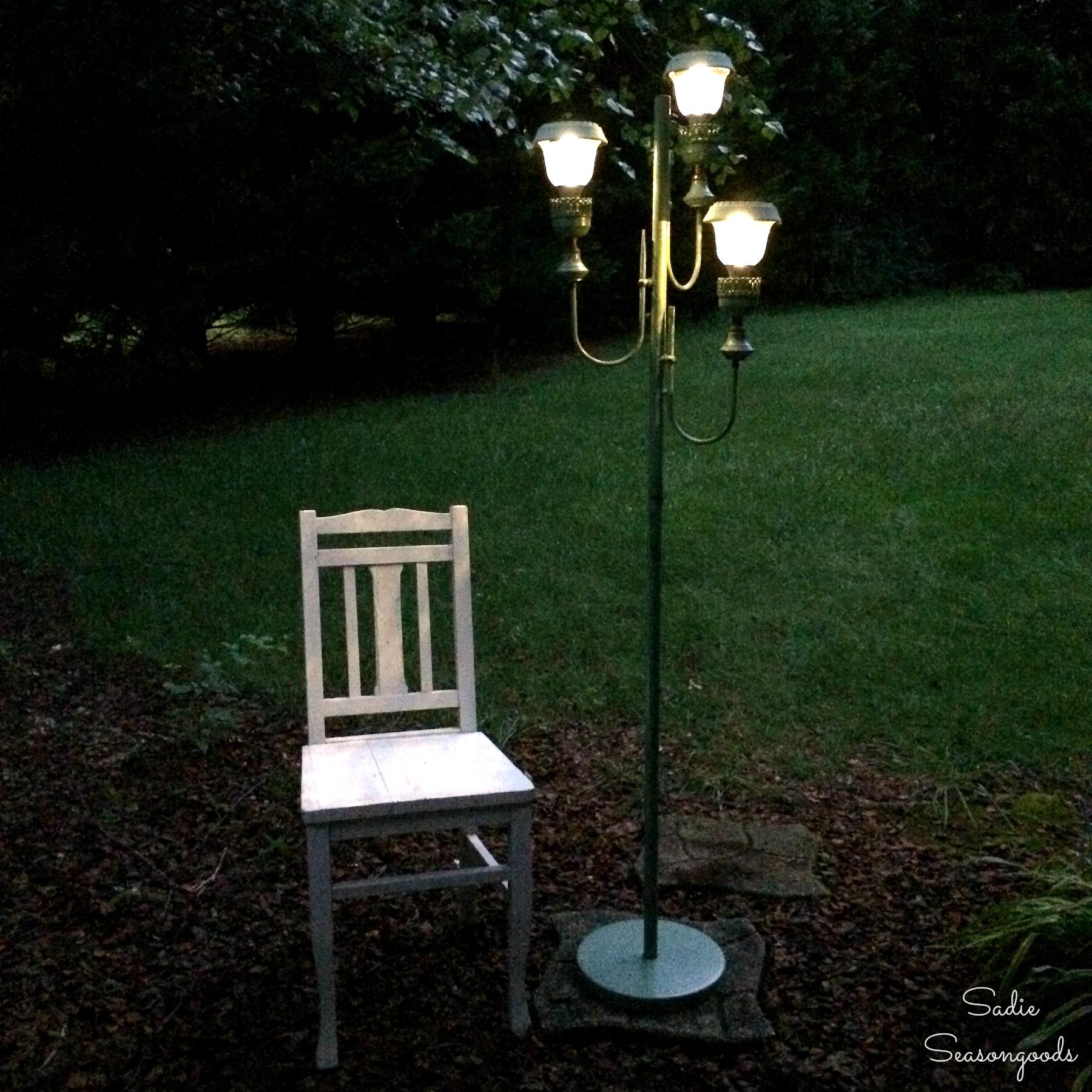 Green garden lamp photo
