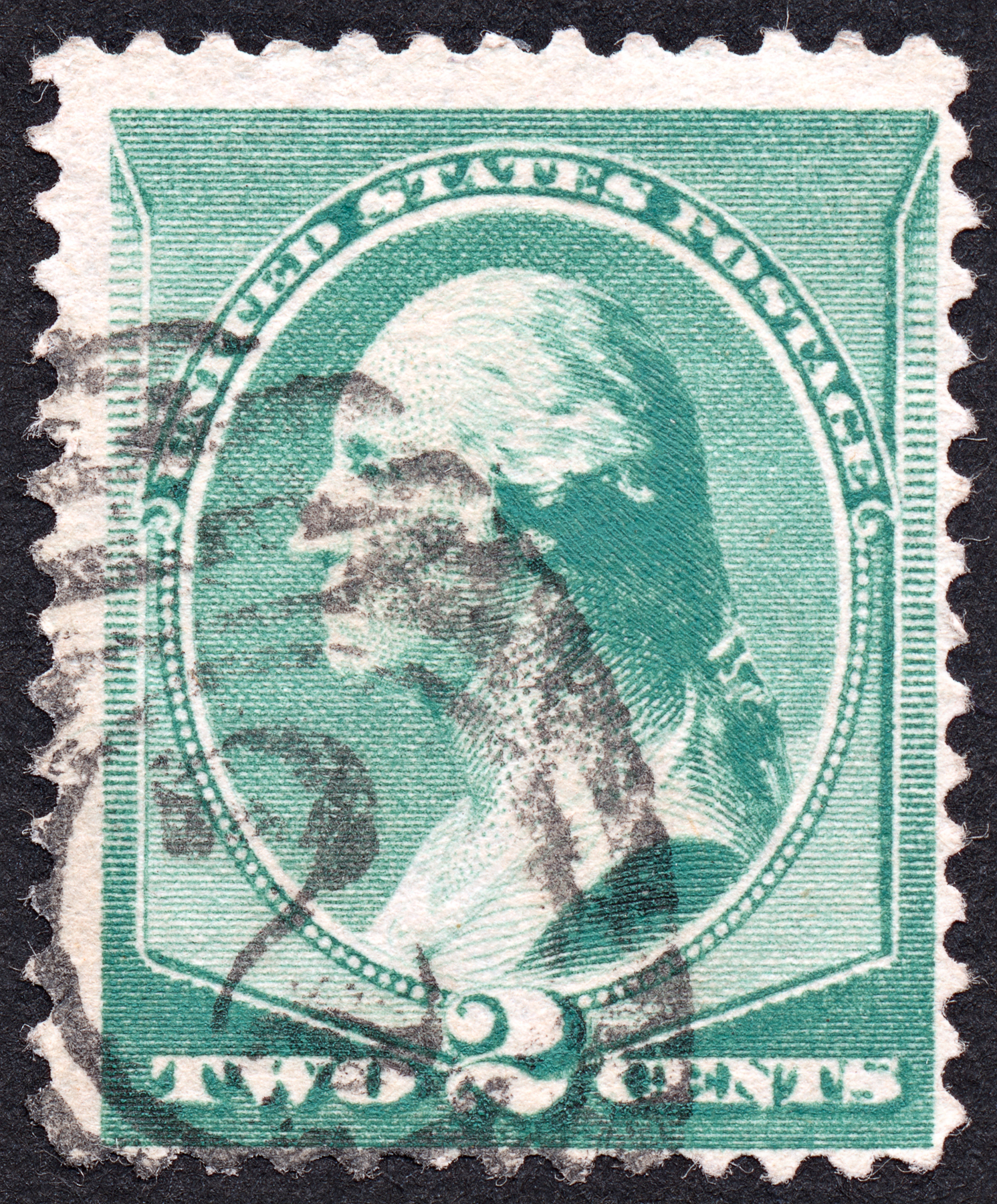 Green george washington stamp photo