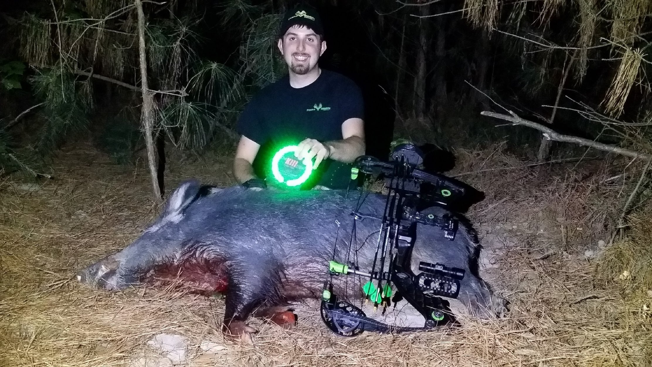Hog Hunt at Night with The Green Kill Light Motion Sensor Feeder ...